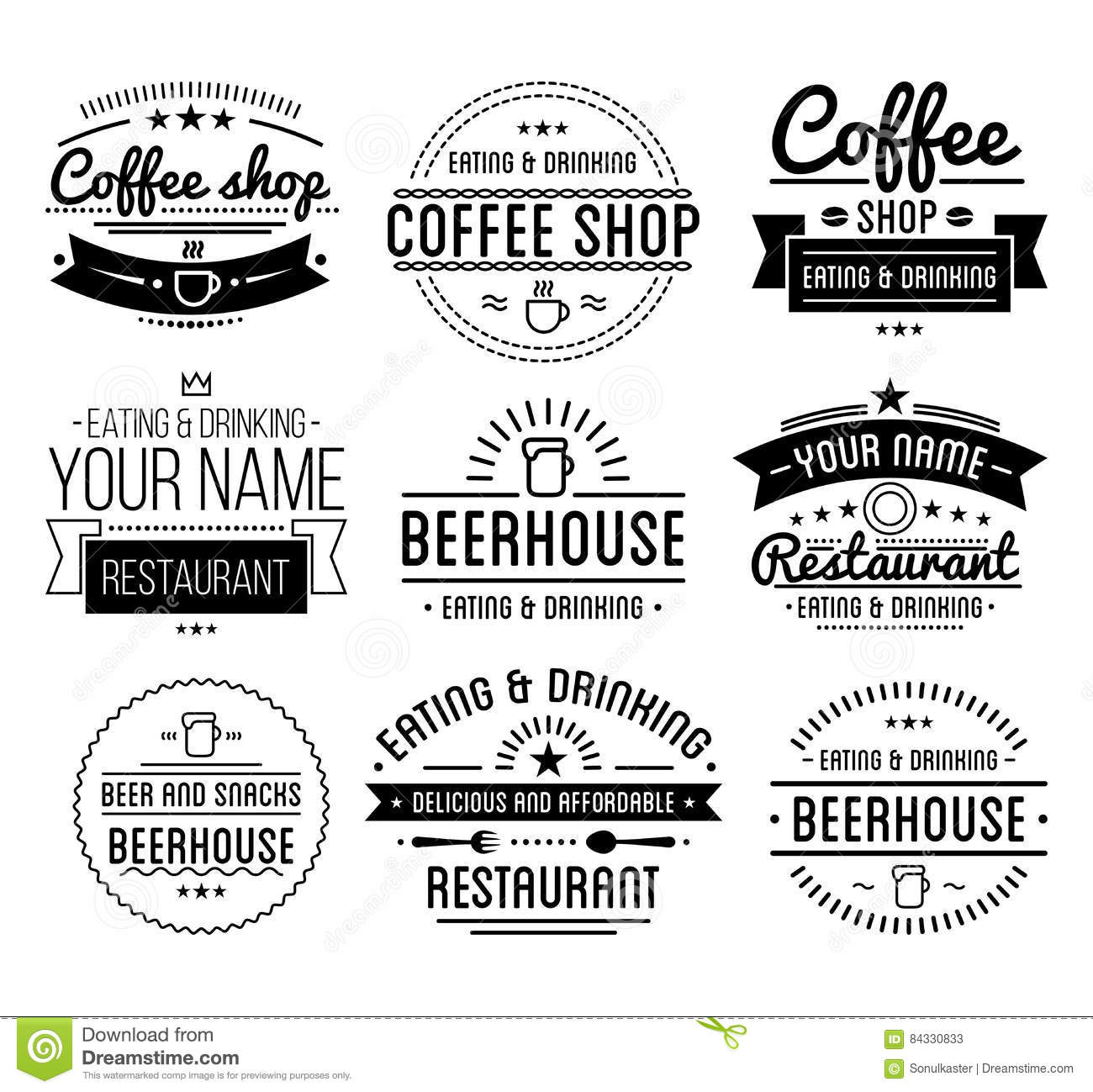 Vintage logo coffee shop template restaurant label for Z label templates