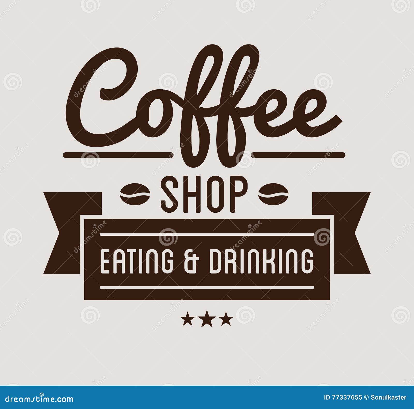 Vintage Logo. Coffee Shop Template. Restaurant Label