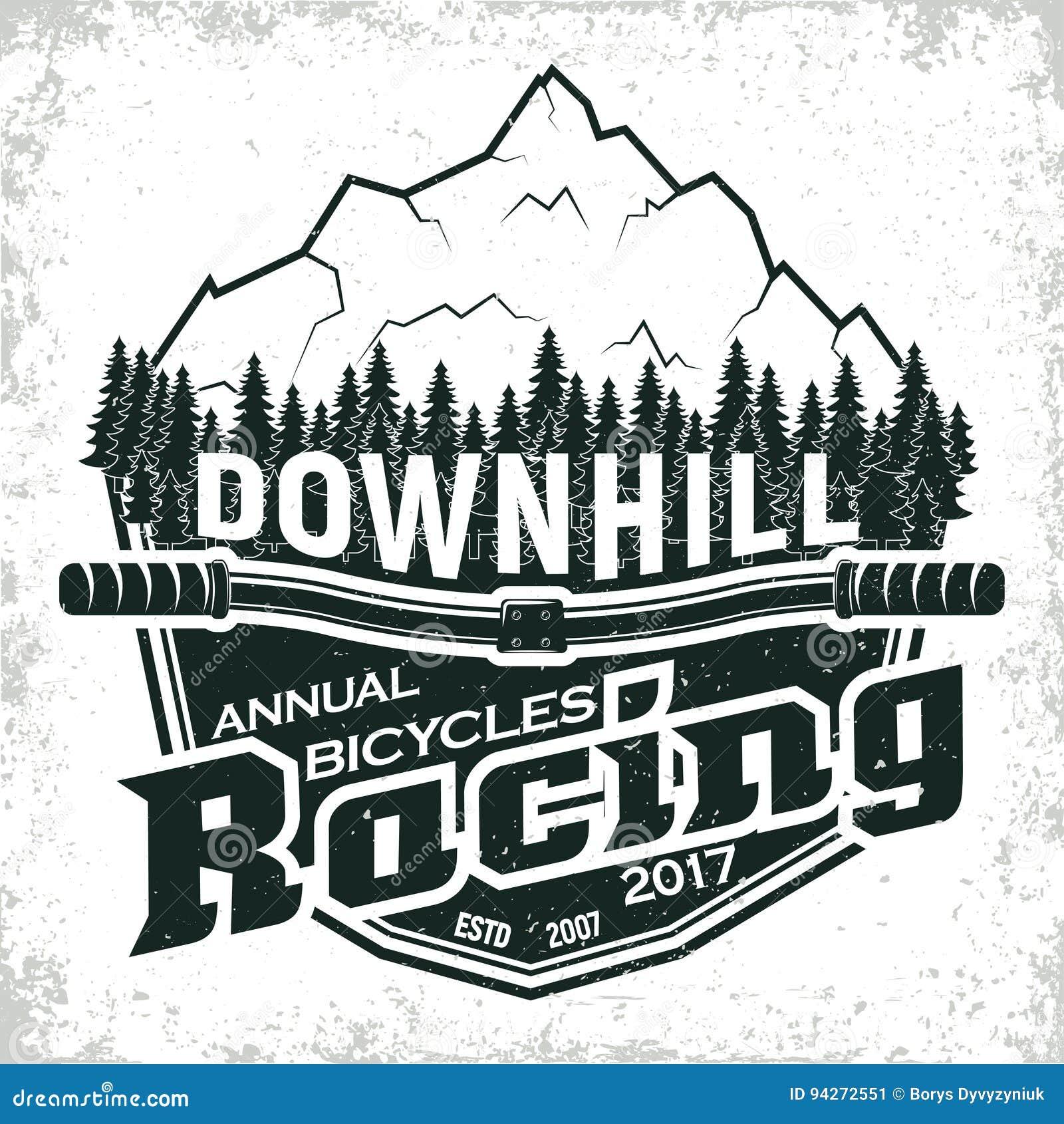 Vintage logo design stock vector  Illustration of downhill