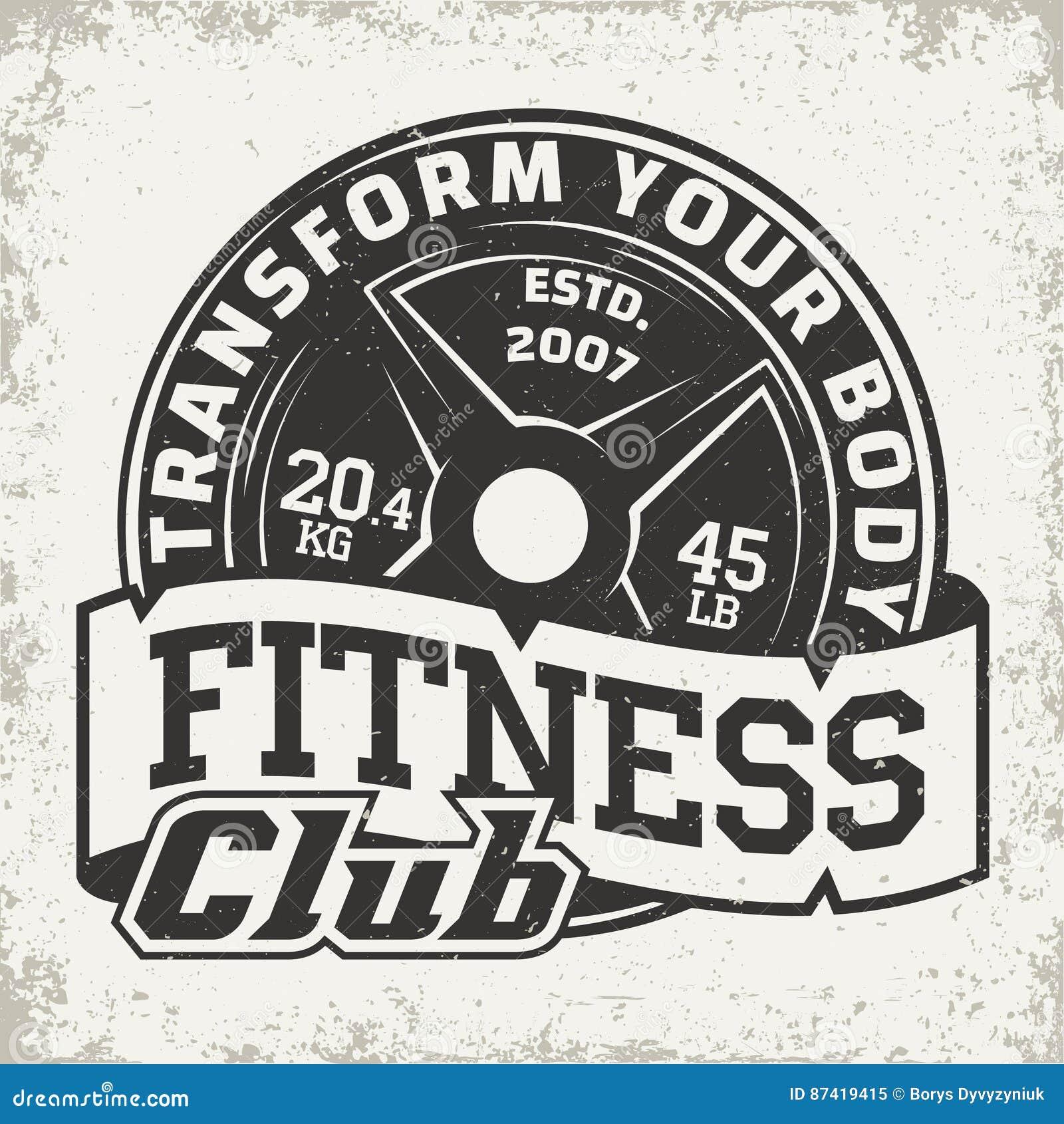 vintage logo design stock vector  illustration of bodybuilding