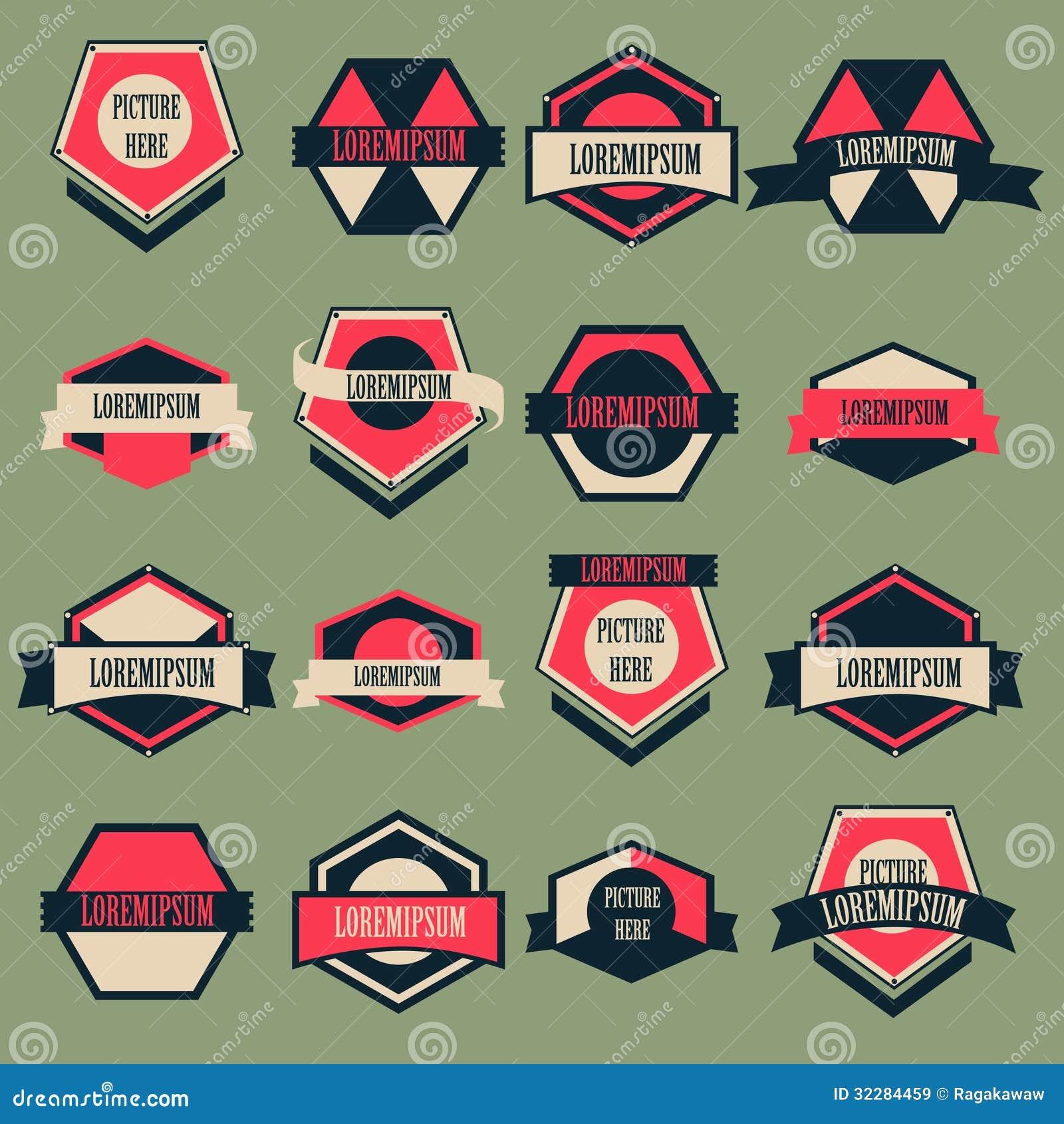Vintage Logo Vector Set Royalty Free Stock Photography - Image ...