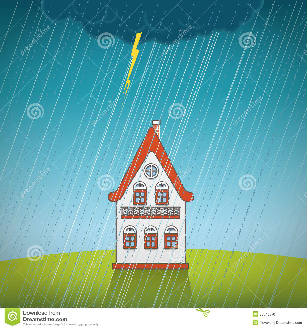 Vintage Lonely House Stock Photo Image 33645370