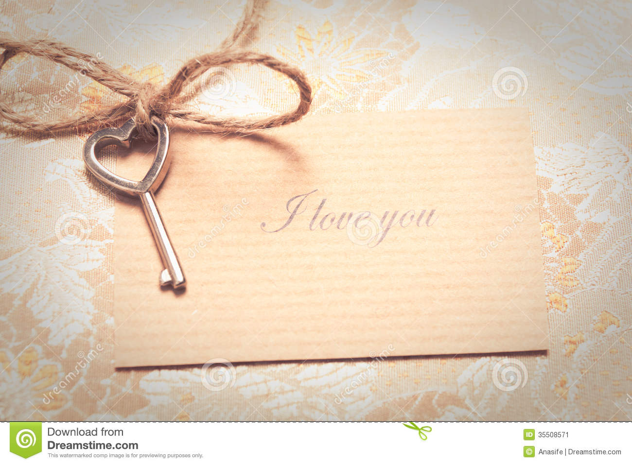 Vintage Love Card Stock Image Image Of Text Texture 35508571