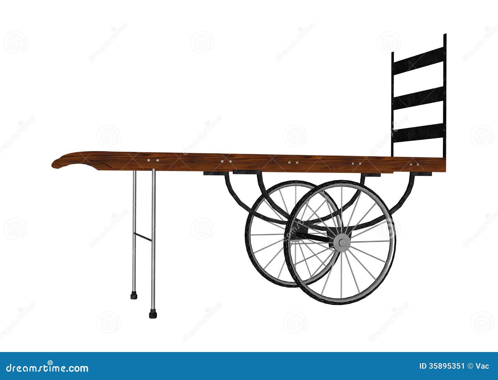 Vintage Luggage Hand Cart Stock Image - Image: 35895351