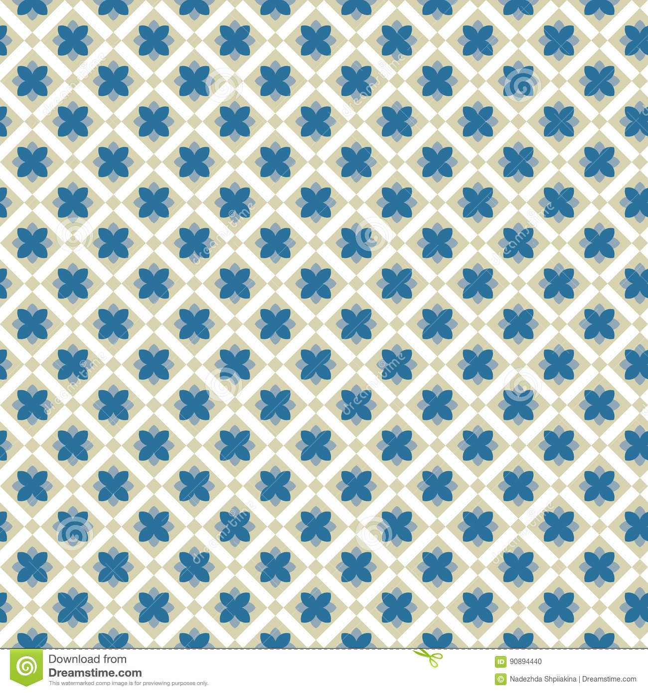Vintage Luxury Flowers Seamless Pattern Background Retro