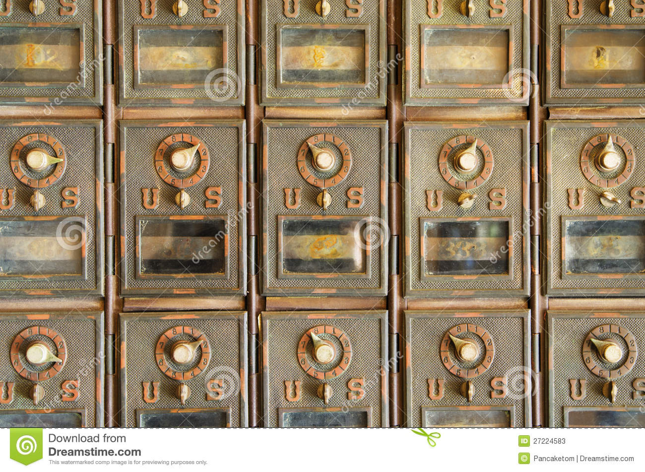 Vintage Mail Pigeonholes Stock Image Image Of Combination