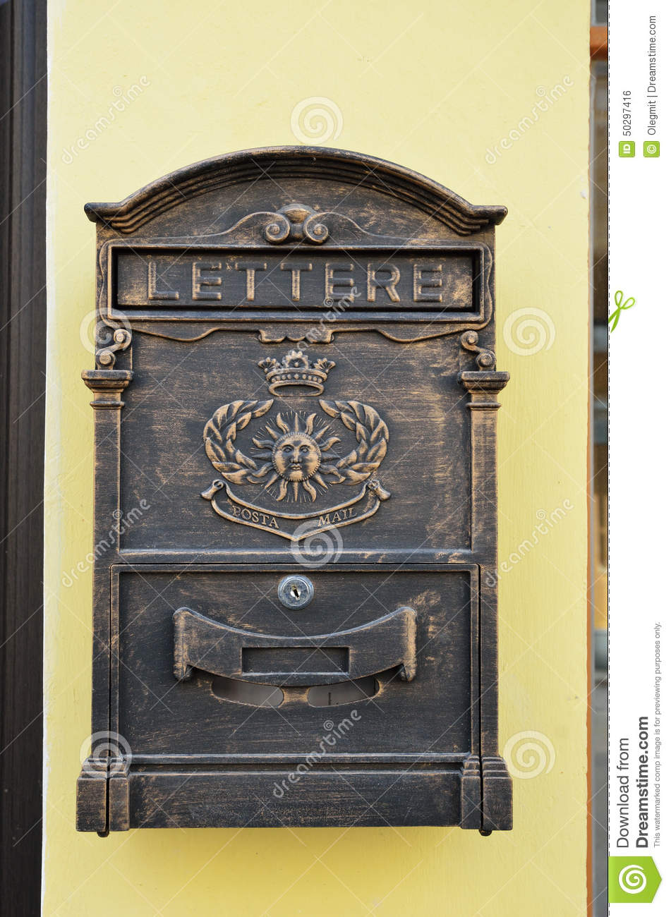 Vintage mailbox in the wall stock photo image 50297416 for What to do with old mailbox