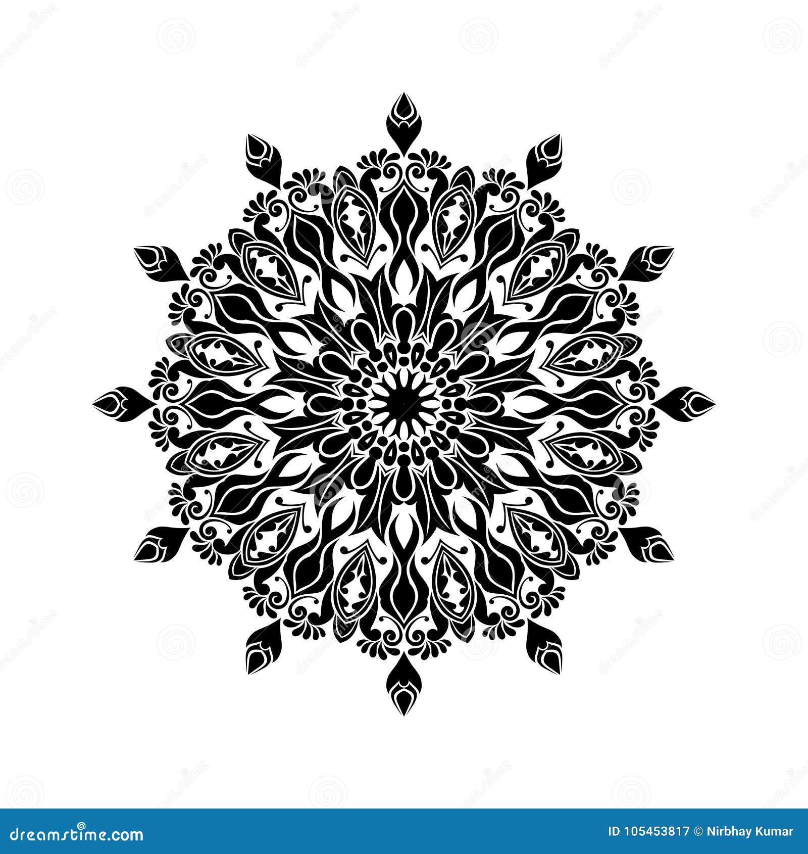 Vintage Mandala Design A L Arriere Plan Blanc Illustration De Vecteur Illustration Du Design Mandala 105453817