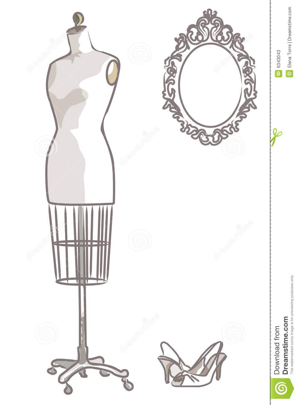 Stock Photos Vintage Mannequin Vector Eps File Image6343043 on dress shoes clip art