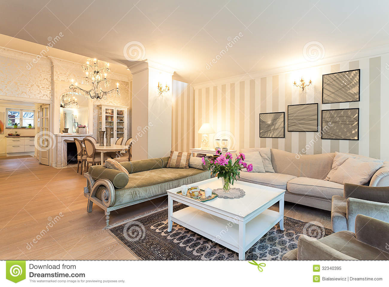 Vintage Mansion Attic Space Stock Image Image Of Room