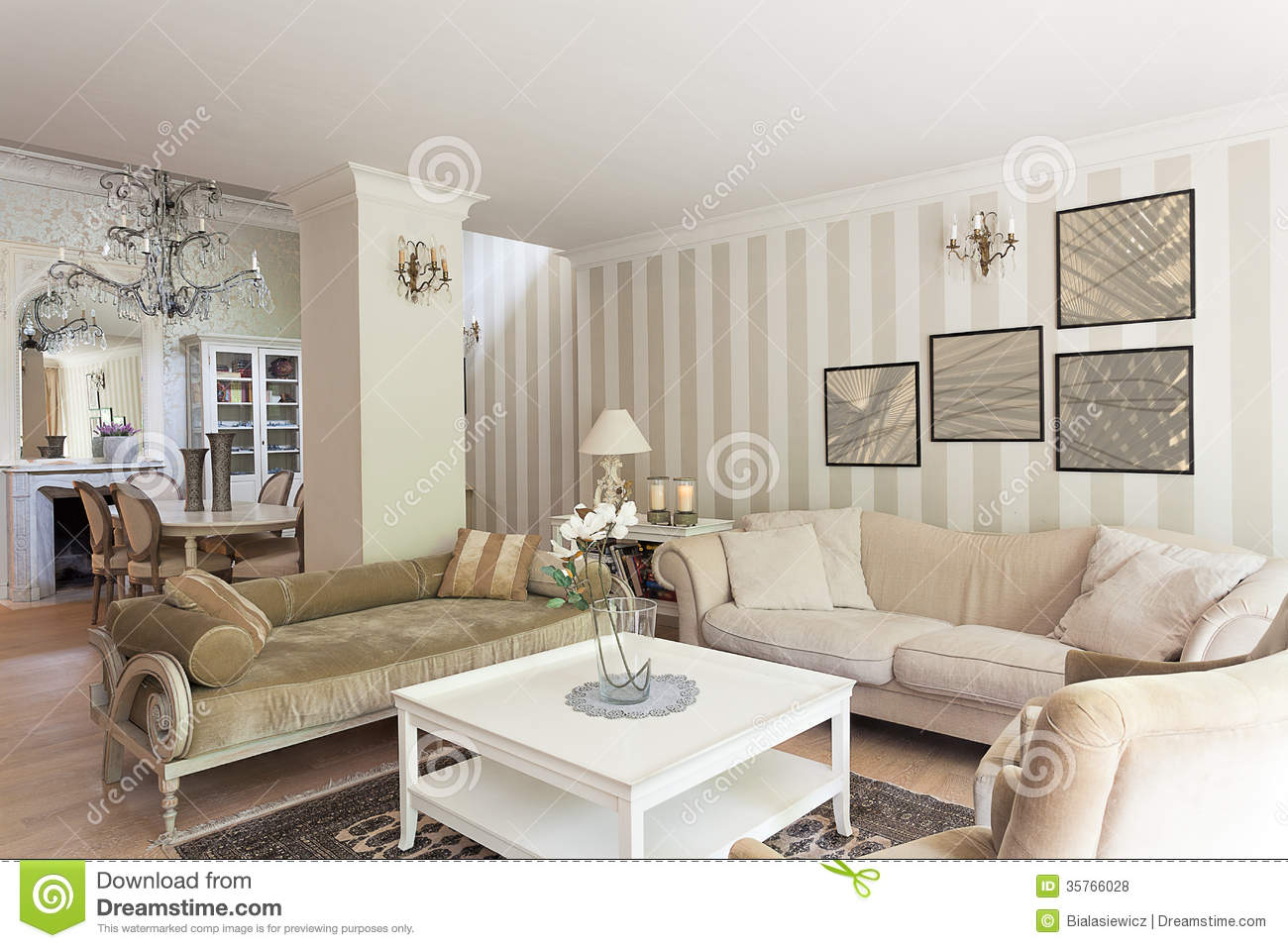 Vintage mansion drawing room royalty free stock photos for Sala de estar beige