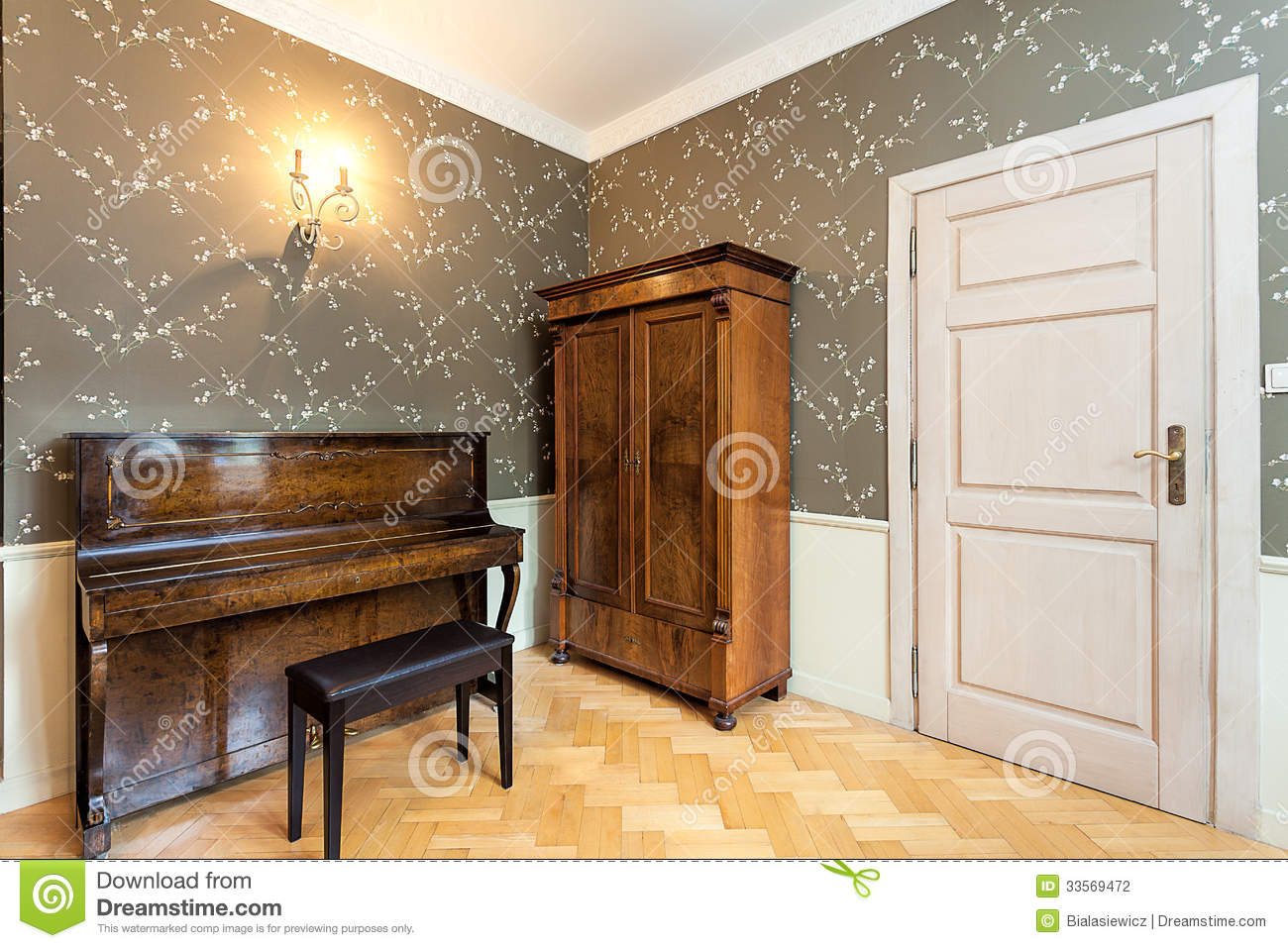 Vintage Mansion Music Room Stock Photo Image Of Chair