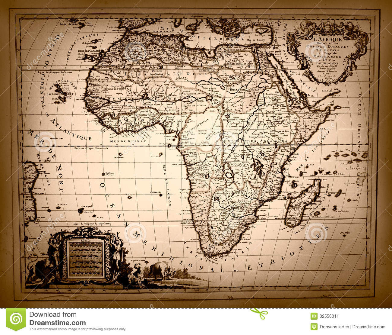 Old Fashioned Map Of Africa