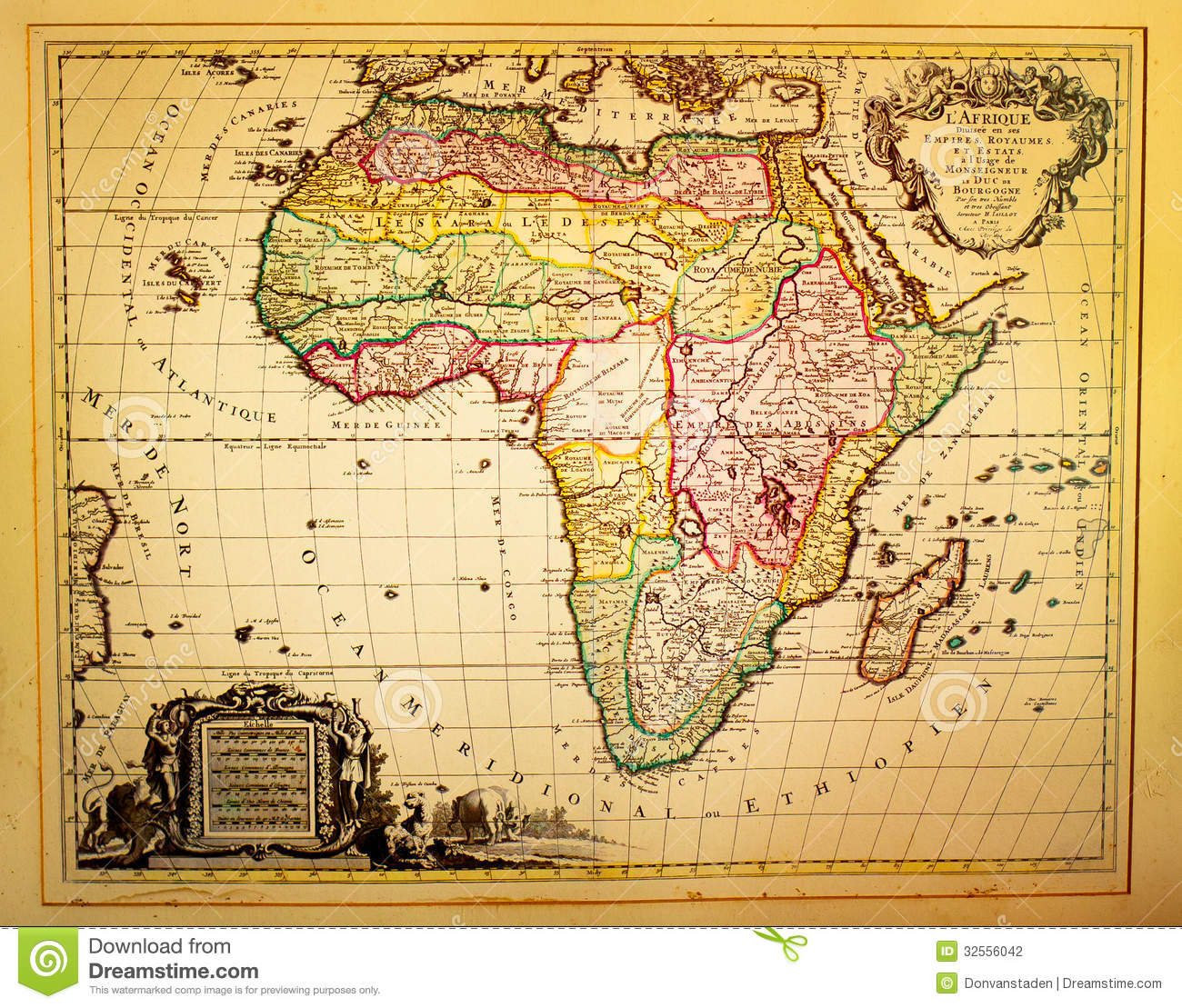 Vintage Map Of Africa Stock Photography  Image: 32556042 - 19Th Century Hairstyles