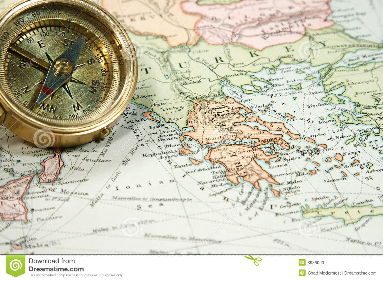 Download Vintage Map and Chart stock photo. Image of printed, magnetic - 8986090