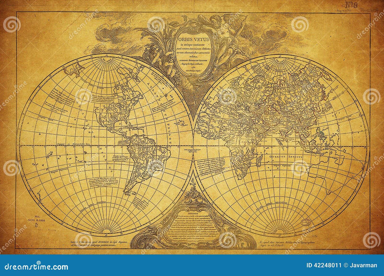 Antique Map Wall Art