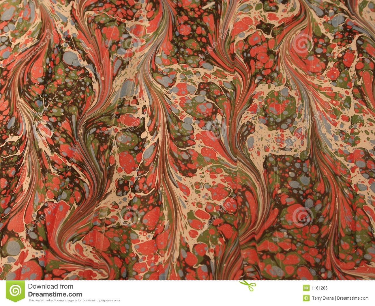 Vintage Marbled Paper Stock Photo Image Of Pink Artisans