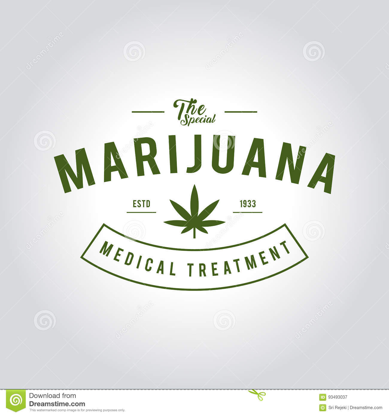An Amazing Vintage Marijuana Label Design Cannabis Health And Medical Therapy Vector Illustration