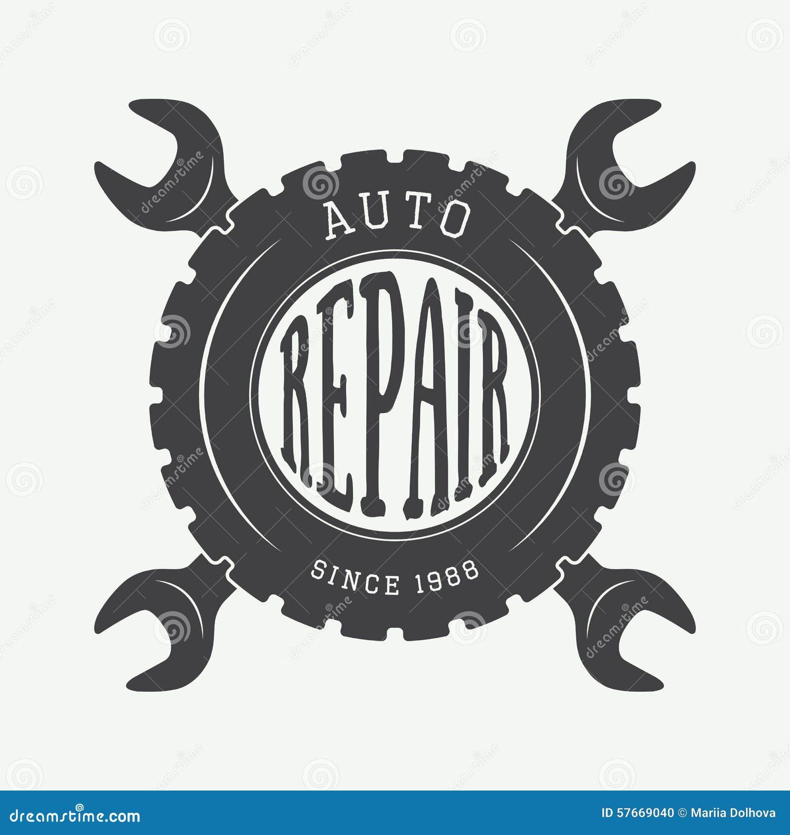 vintage mechanic label  emblem and logo stock vector Auto Mechanic Logo Design auto mechanic tools clipart