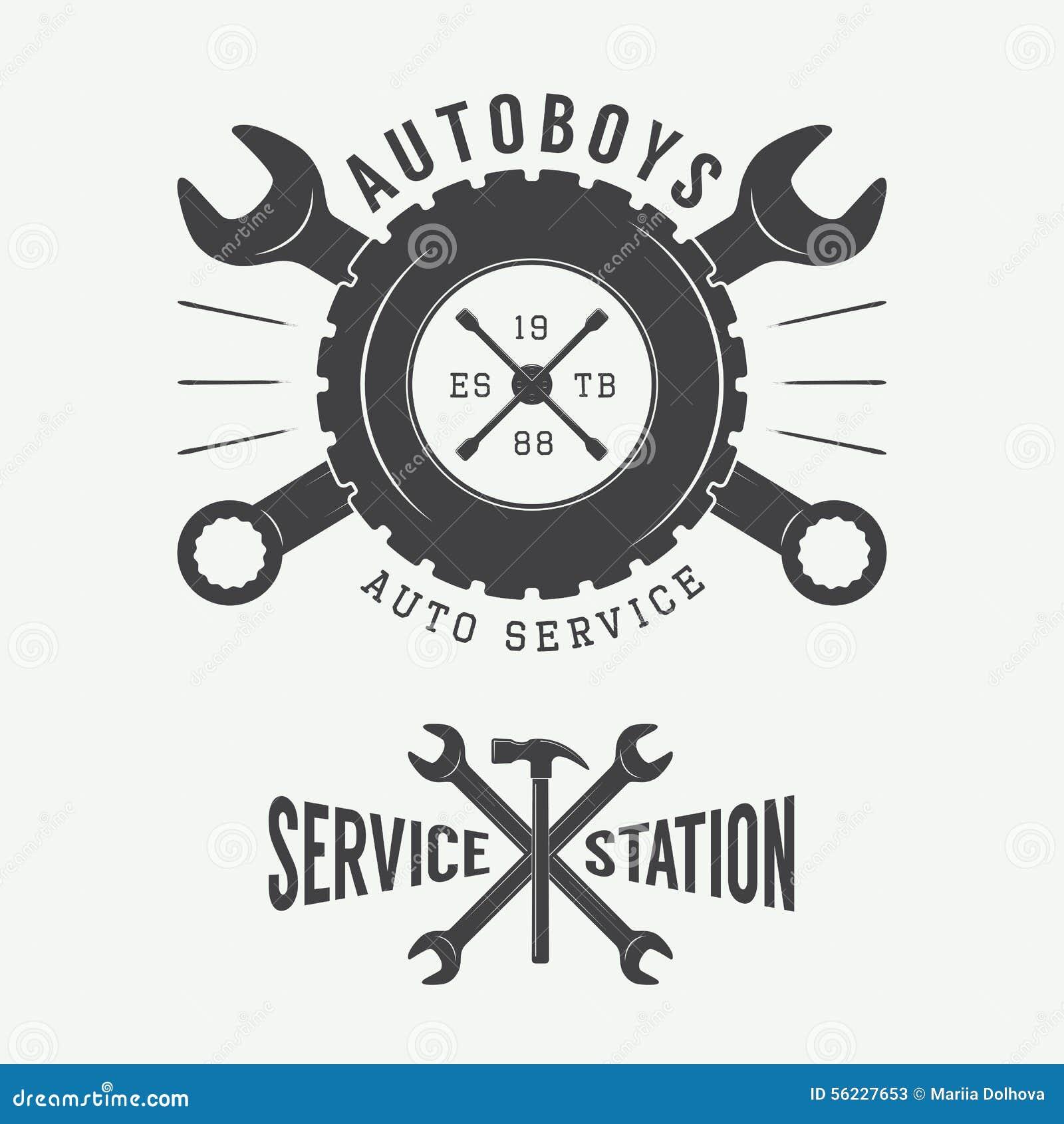 Vintage Mechanic Label Emblem And Logo Vector