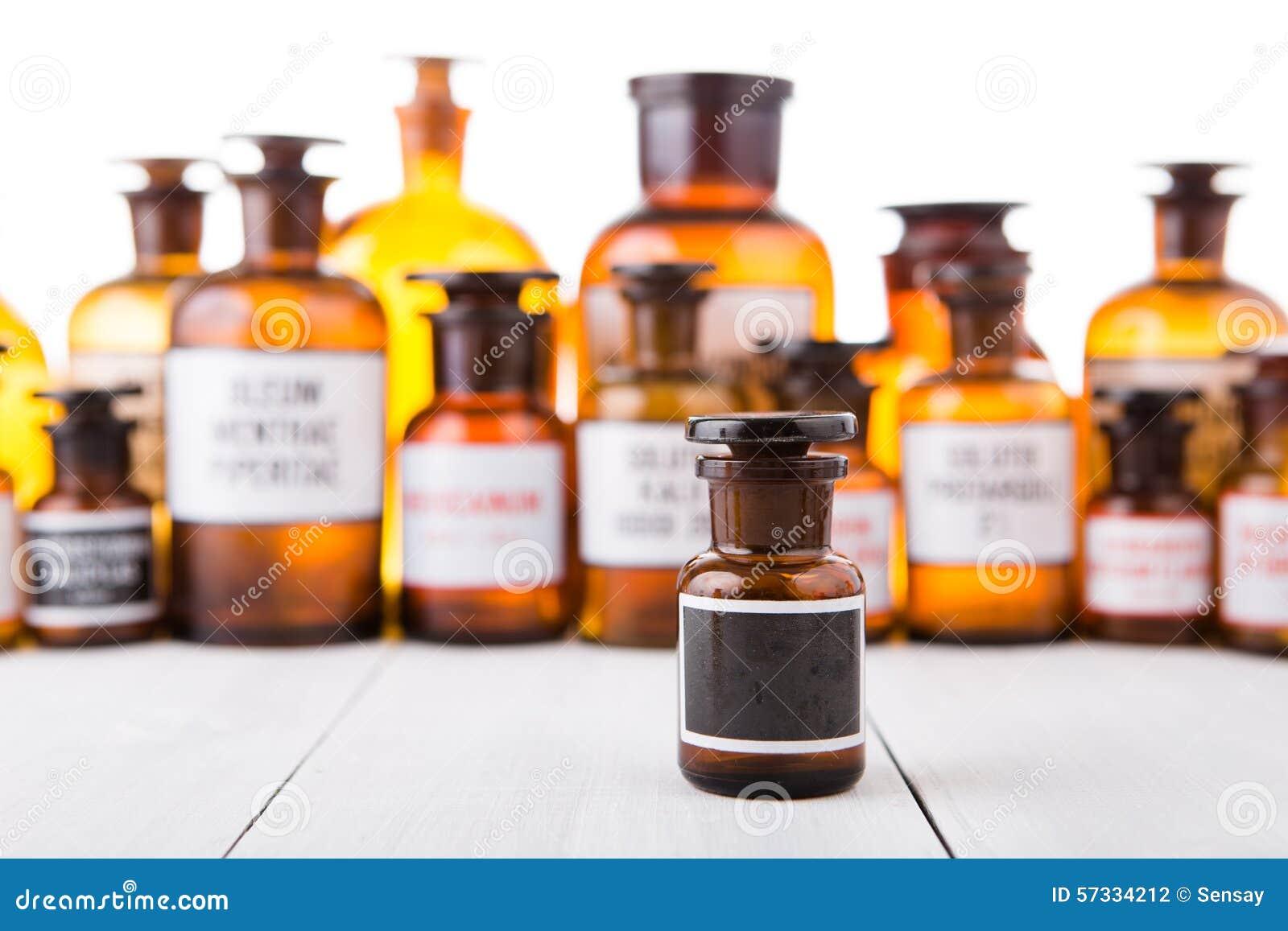 Best Vintage Medicine Bottle With Blank Label Stock Image - Image of  ZR05