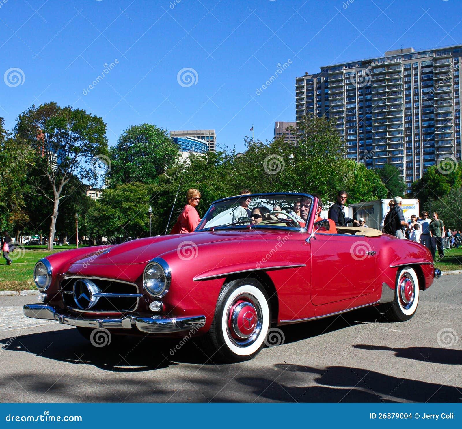 Vintage mercedes benz convertible editorial stock image for Classic mercedes benz convertible