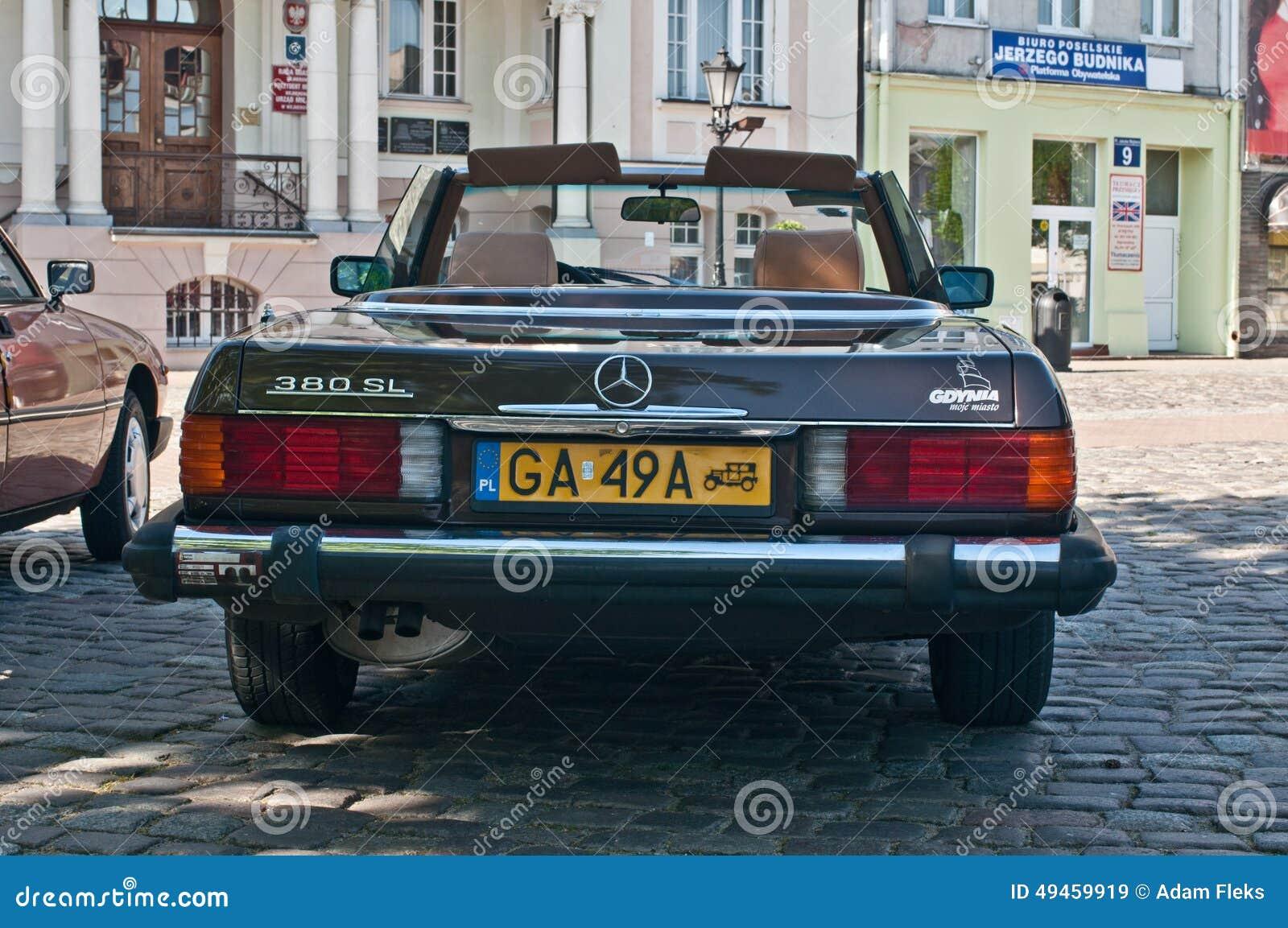 Vintage Mercedes 380 SL Cabrio Editorial Stock Image - Image of ...