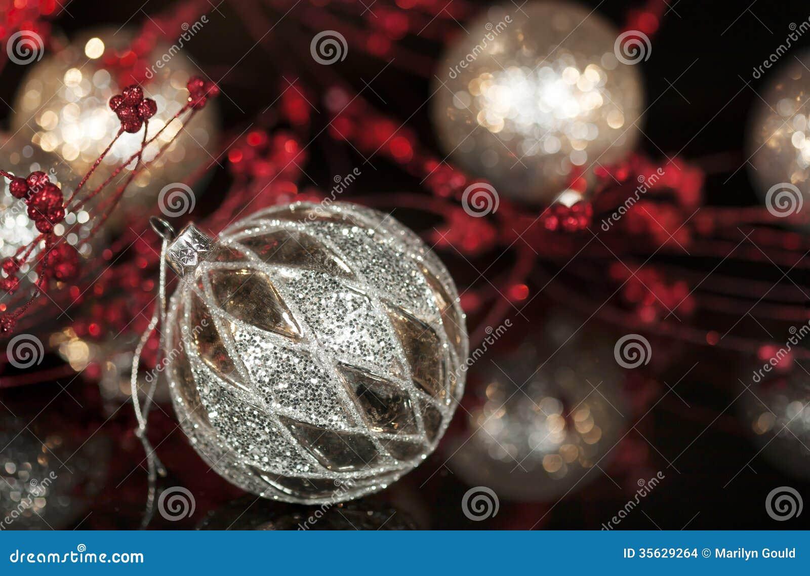 Vintage Mercury Silver Christmas Ornament
