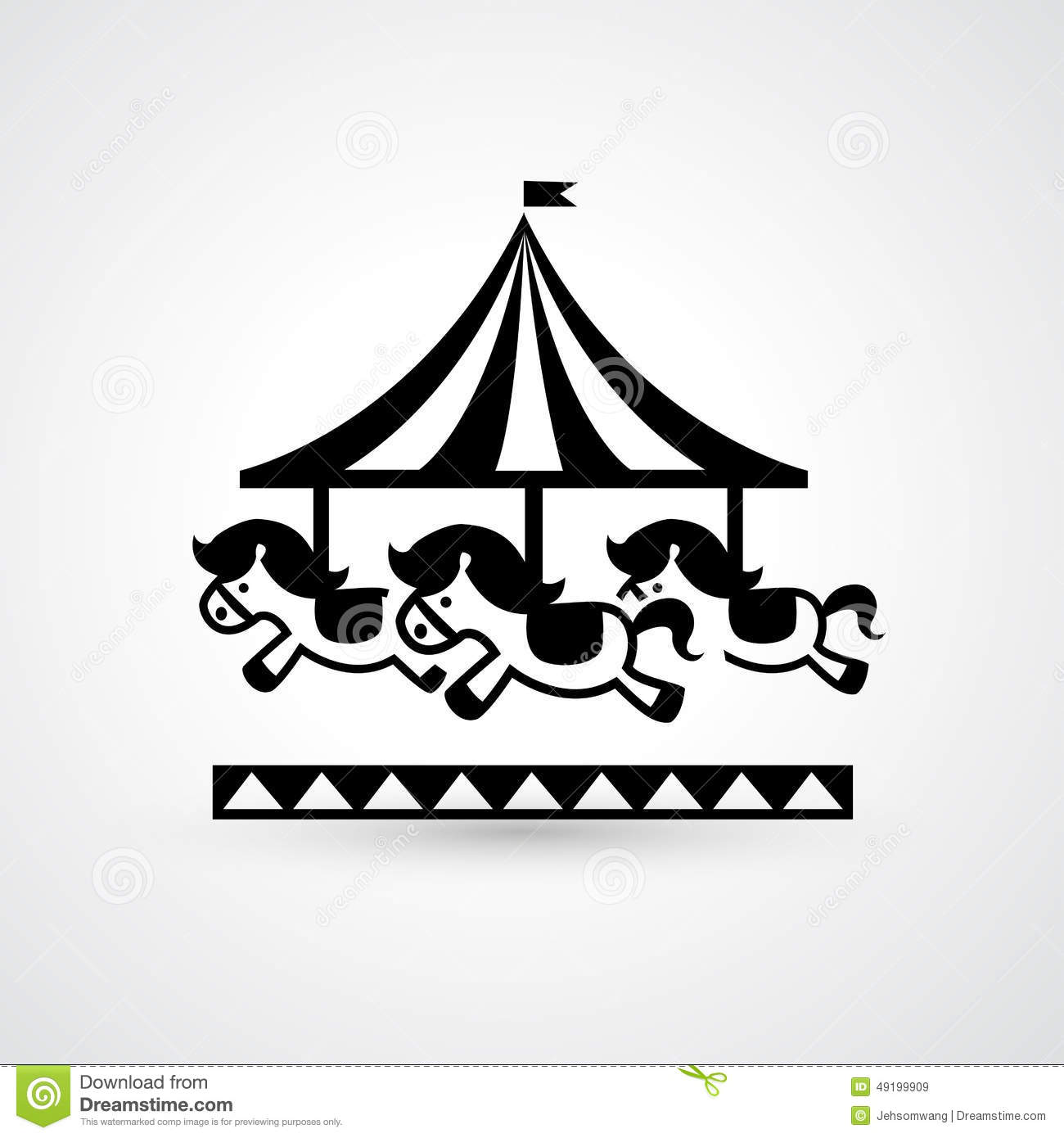 Vintage Merry-go-round Carousel Icon Stock Vector - Image: 49199909