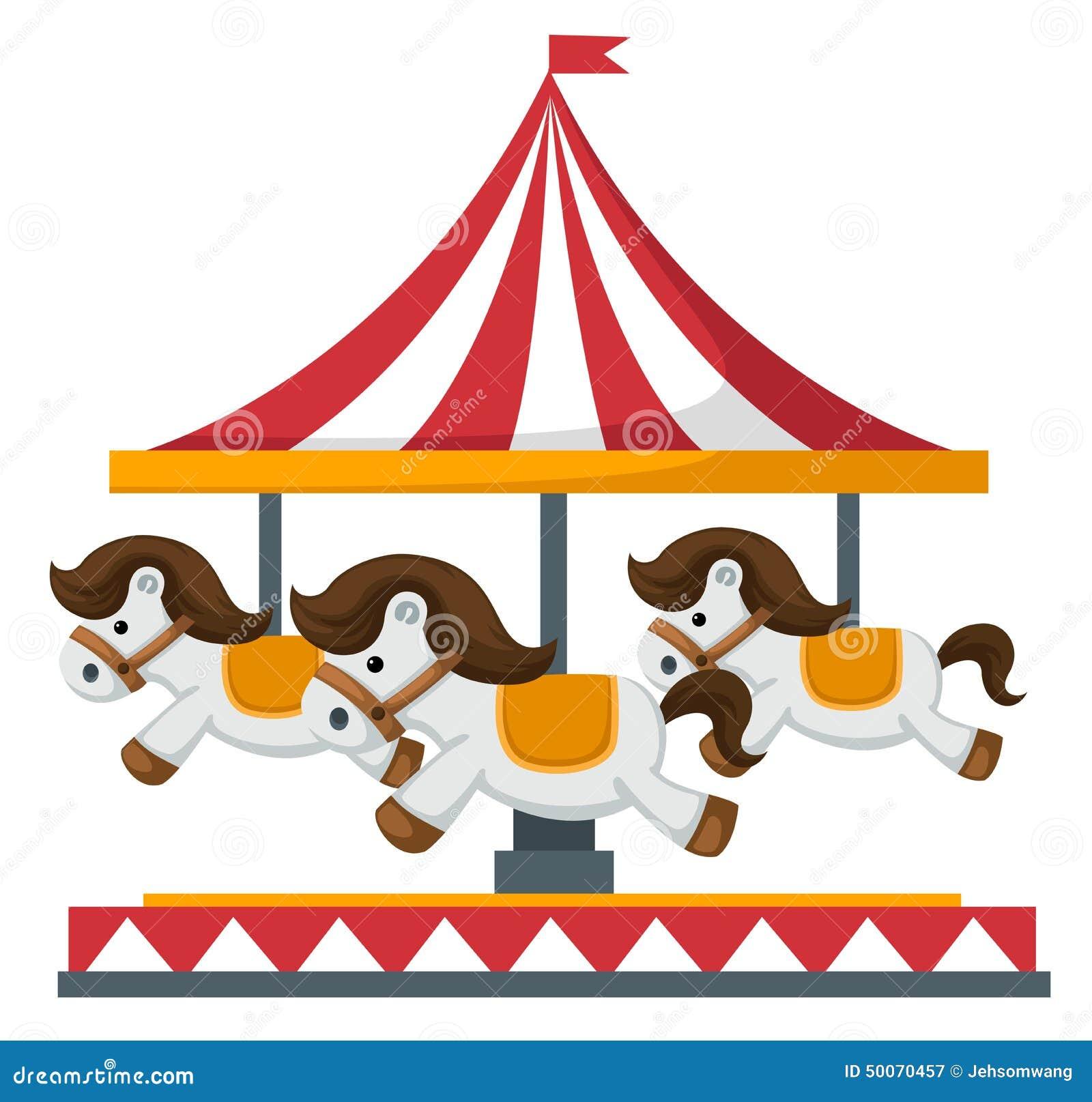 By Merigo Design: Vintage Merry-go-round Carousel Vector Stock Vector