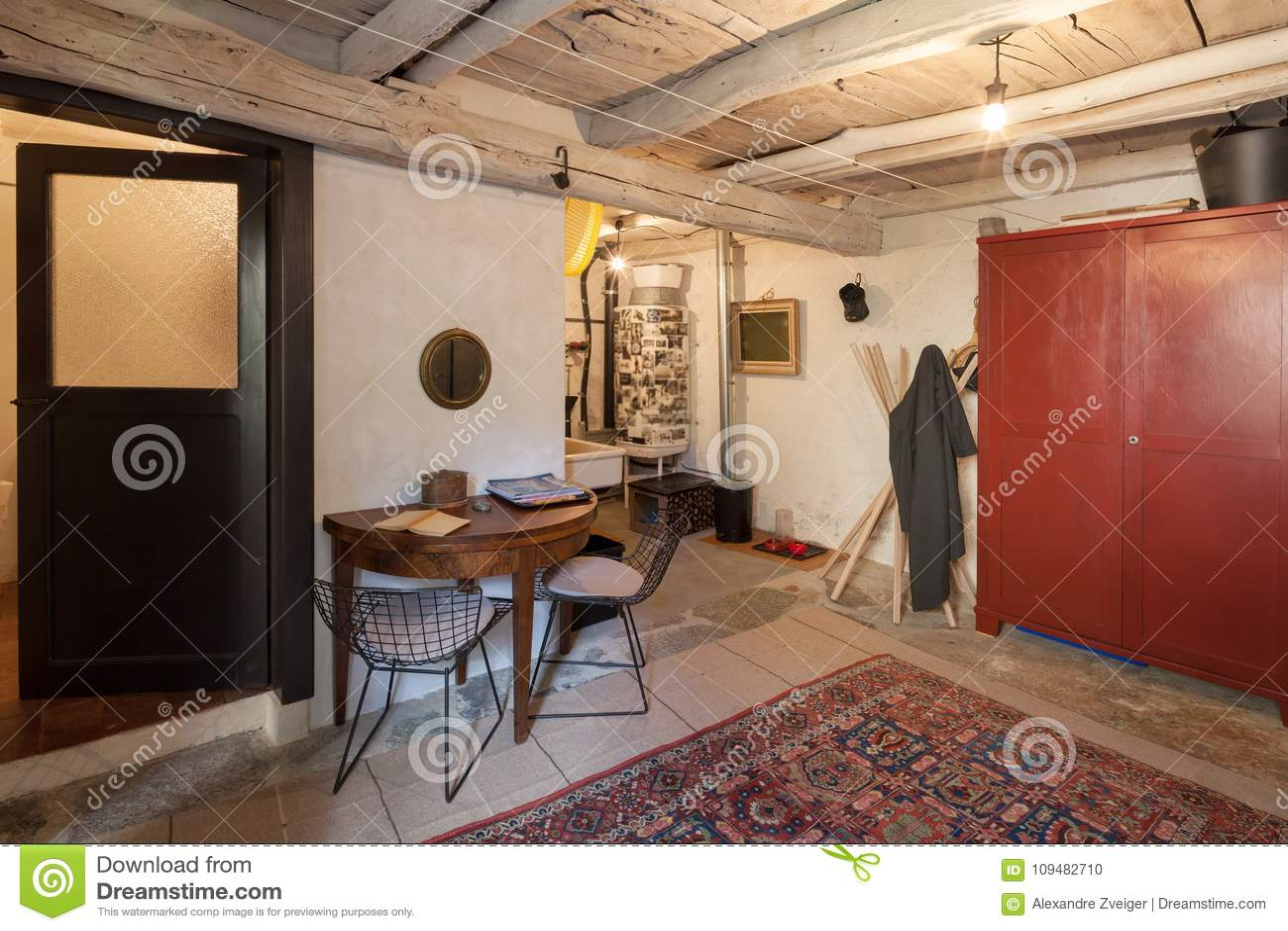 Vintage meublé de maison, entrée