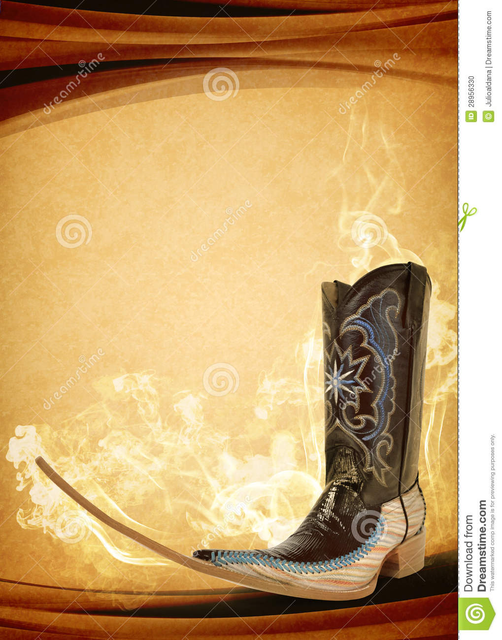 Vintage Mexican pointy boot poster - mexican tribal music clubbing