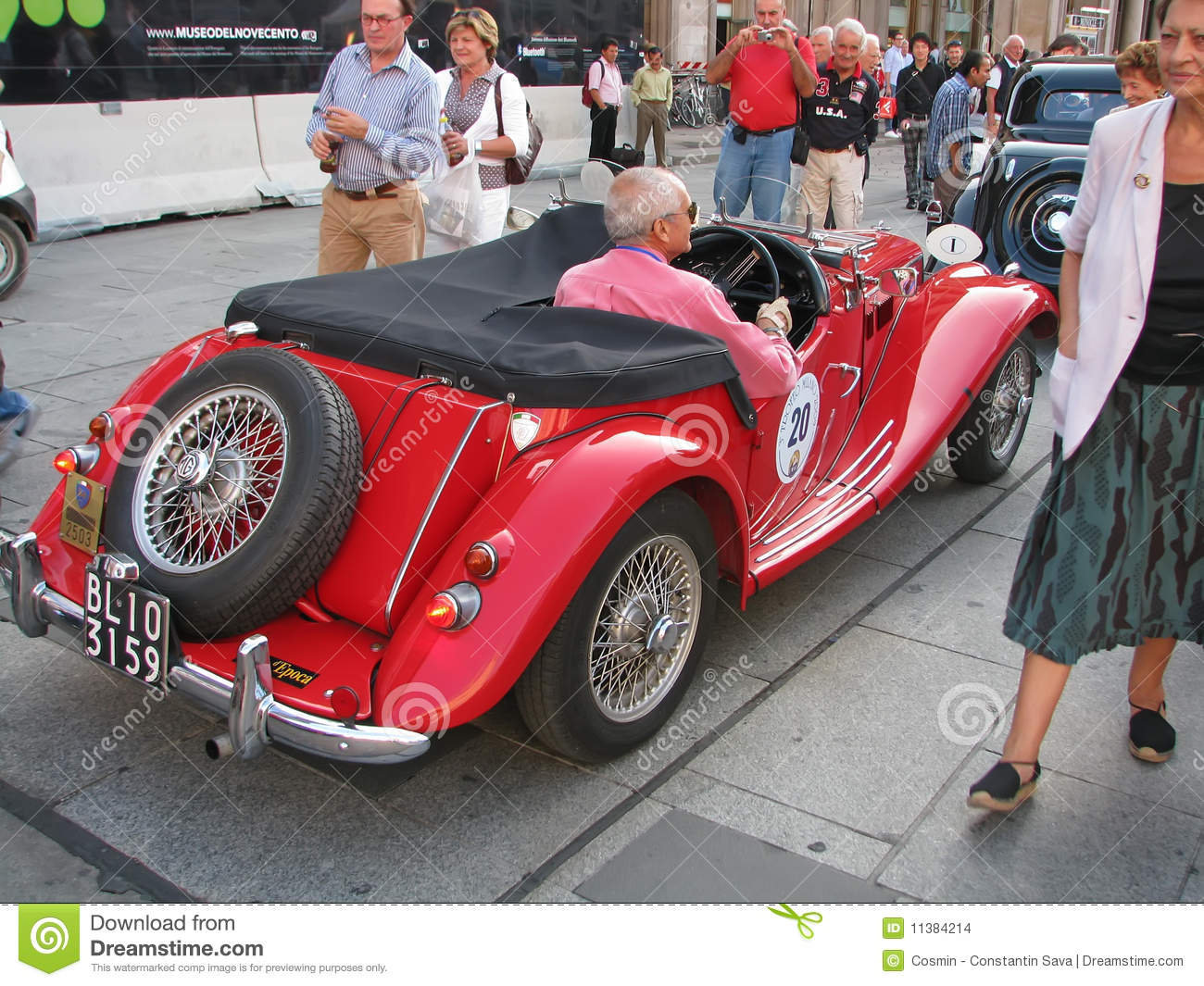 Vintage MG Car Editorial Stock Image - Image: 11384214