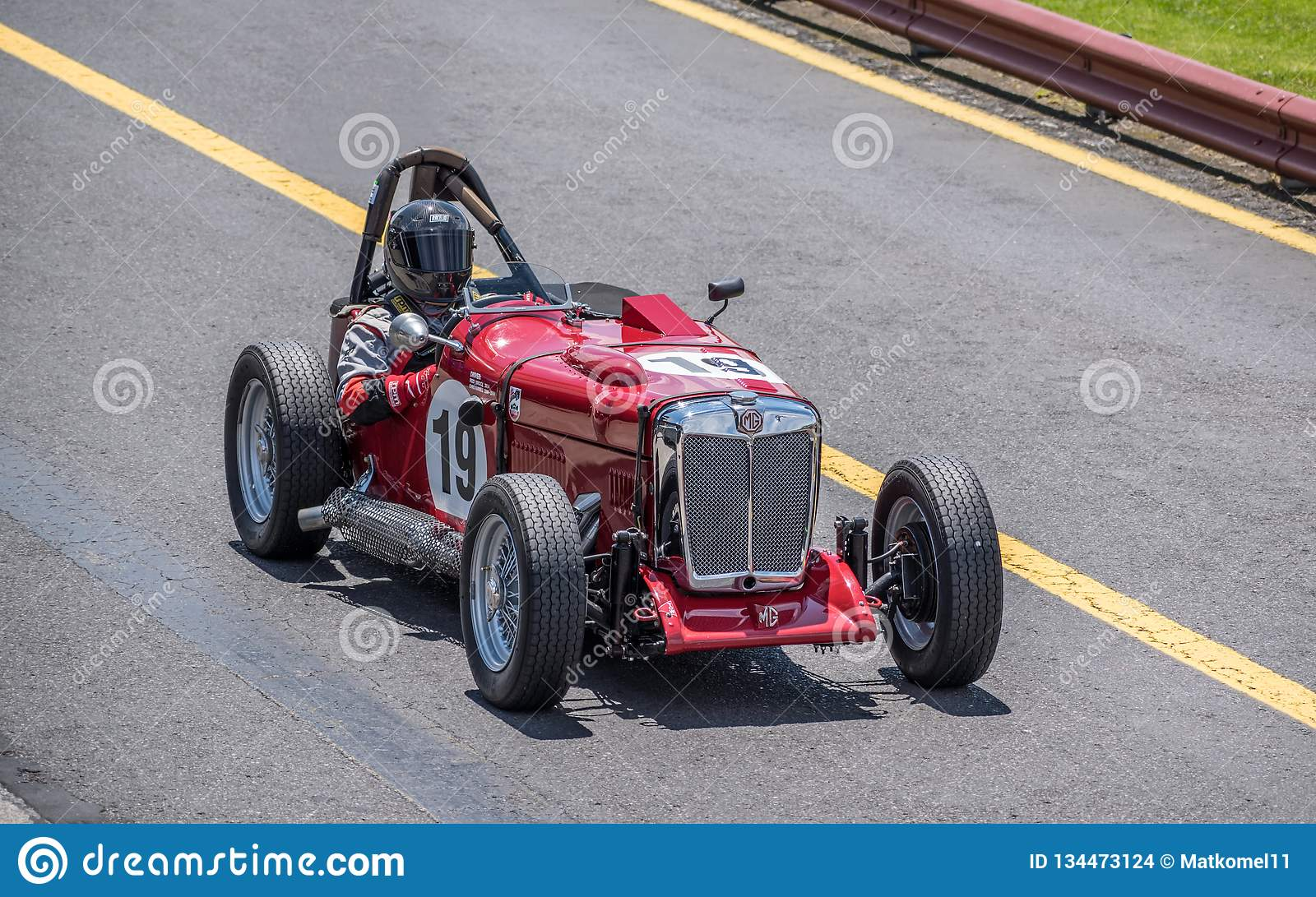 Vintage MG racing car