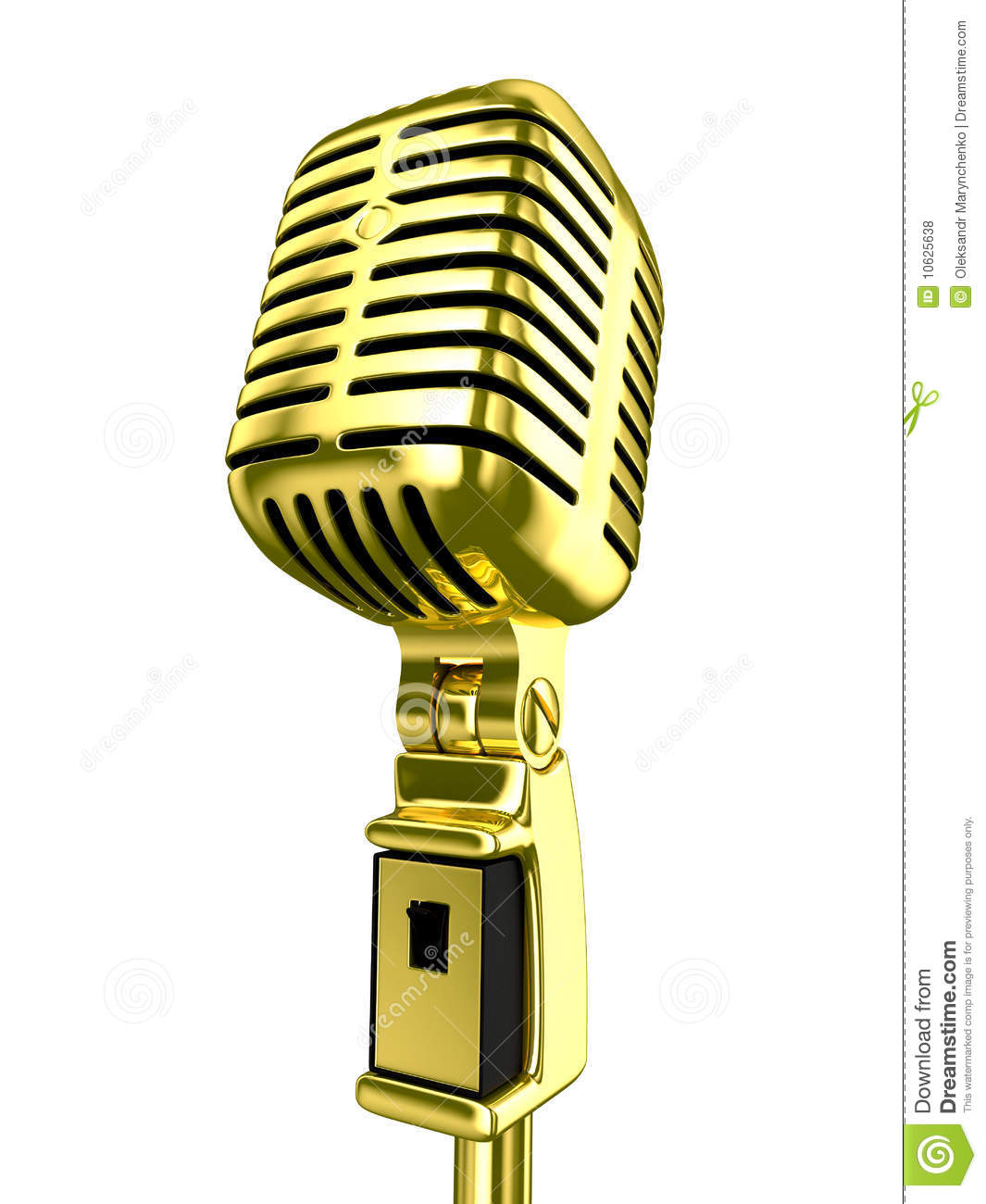 Vintage Microphone Stock Illustration Illustration Of