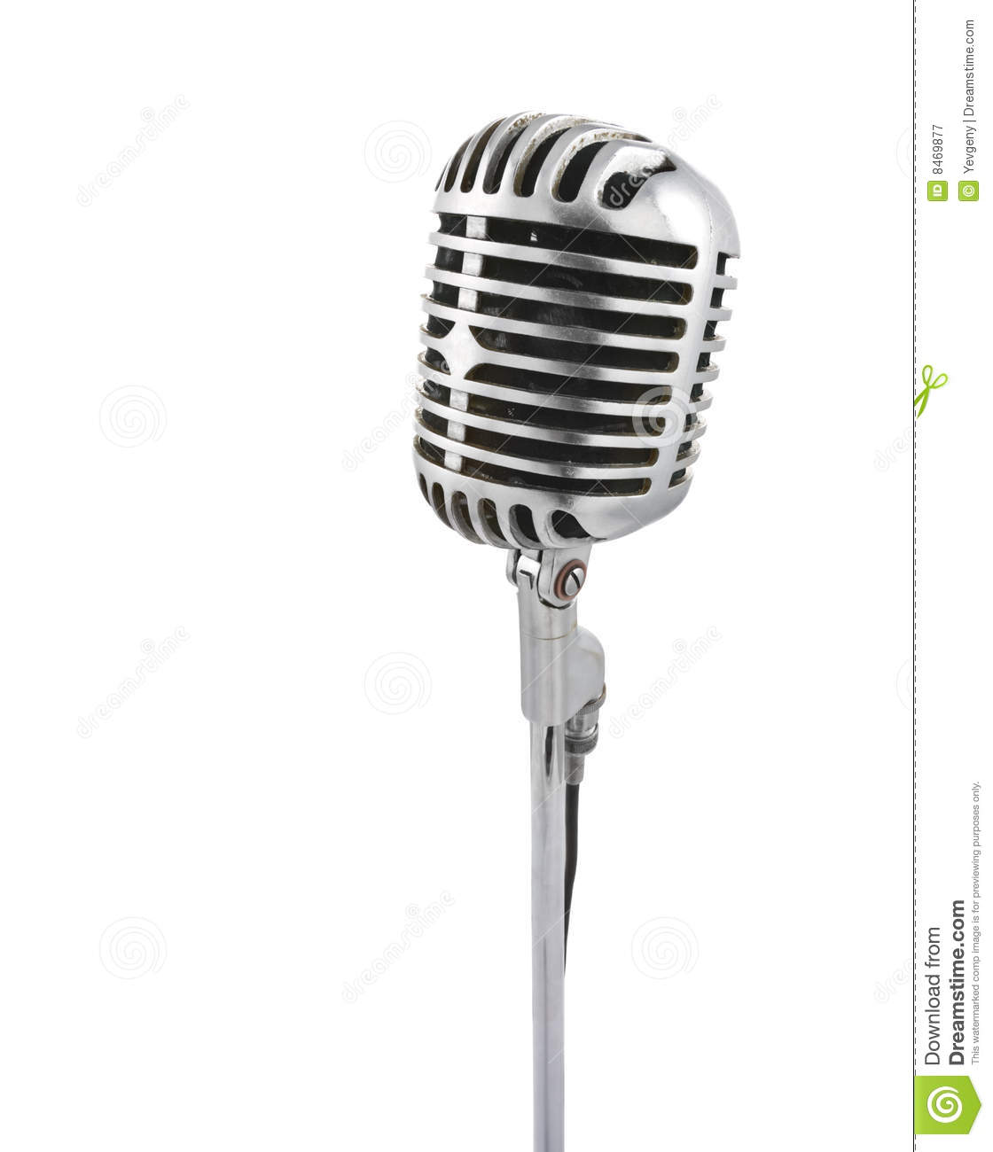 Vintage microphone royalty free stock photography image 8469877