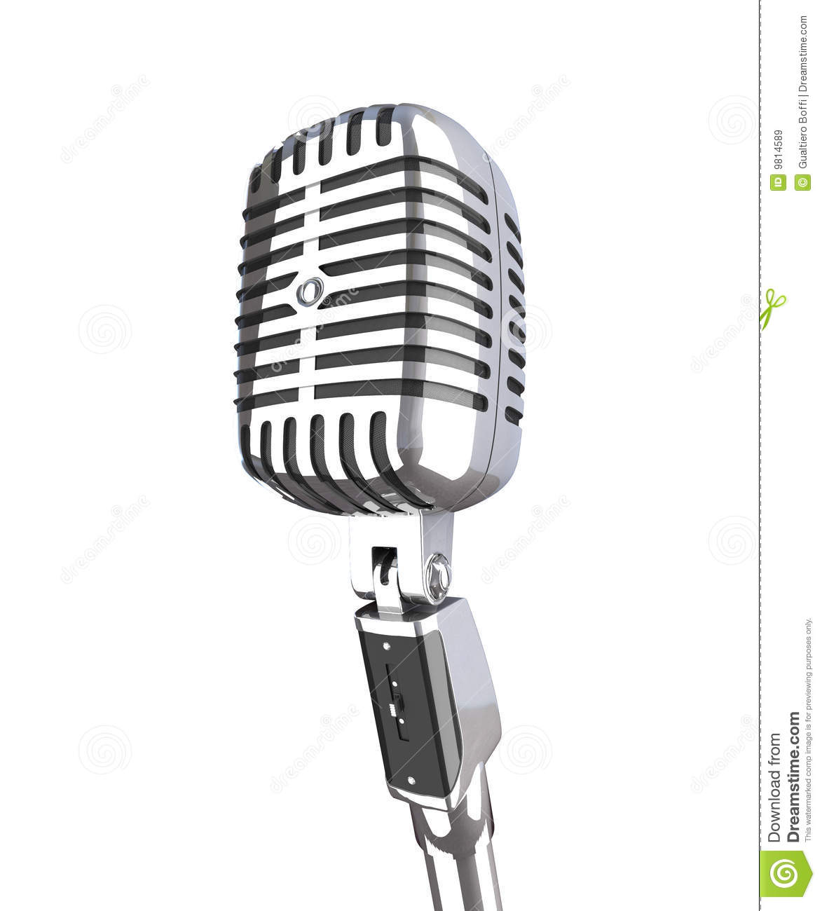 Vintage Microphone Royalty Free Stock Images Image 9814589