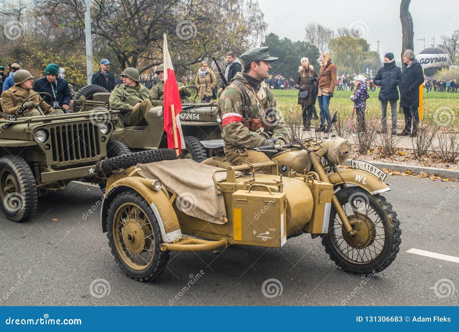 Vintage Military Motorbike Editorial Stock Photo Image Of Engine 131306683