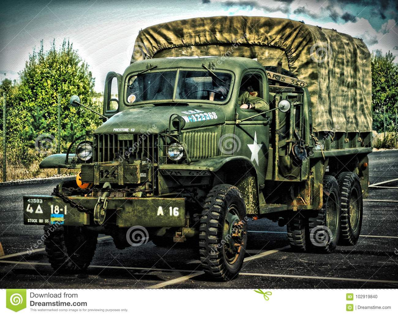 Vintage Military Truck Hdr Editorial Image Of Flatbed 102919840 1941 Gmc Pickup