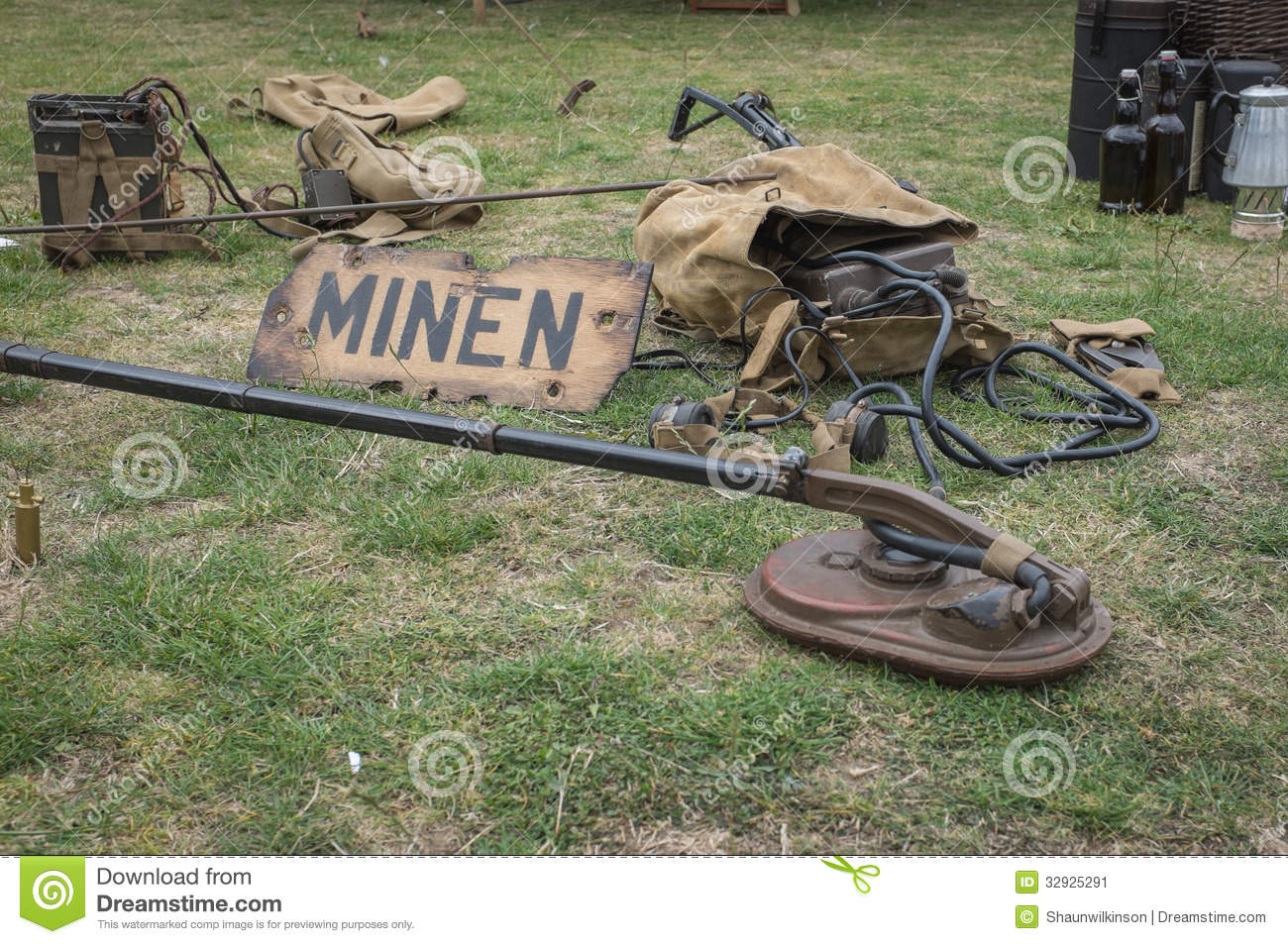 Vintage mine sweeper stock image  Image of weapon, military