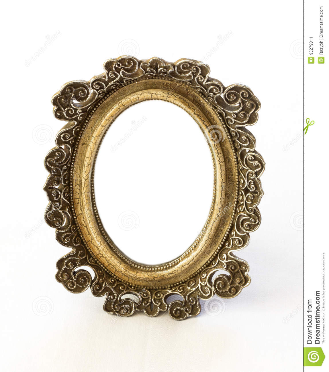 Vintage Mirror Stock Image Image Of Isolated Ornate
