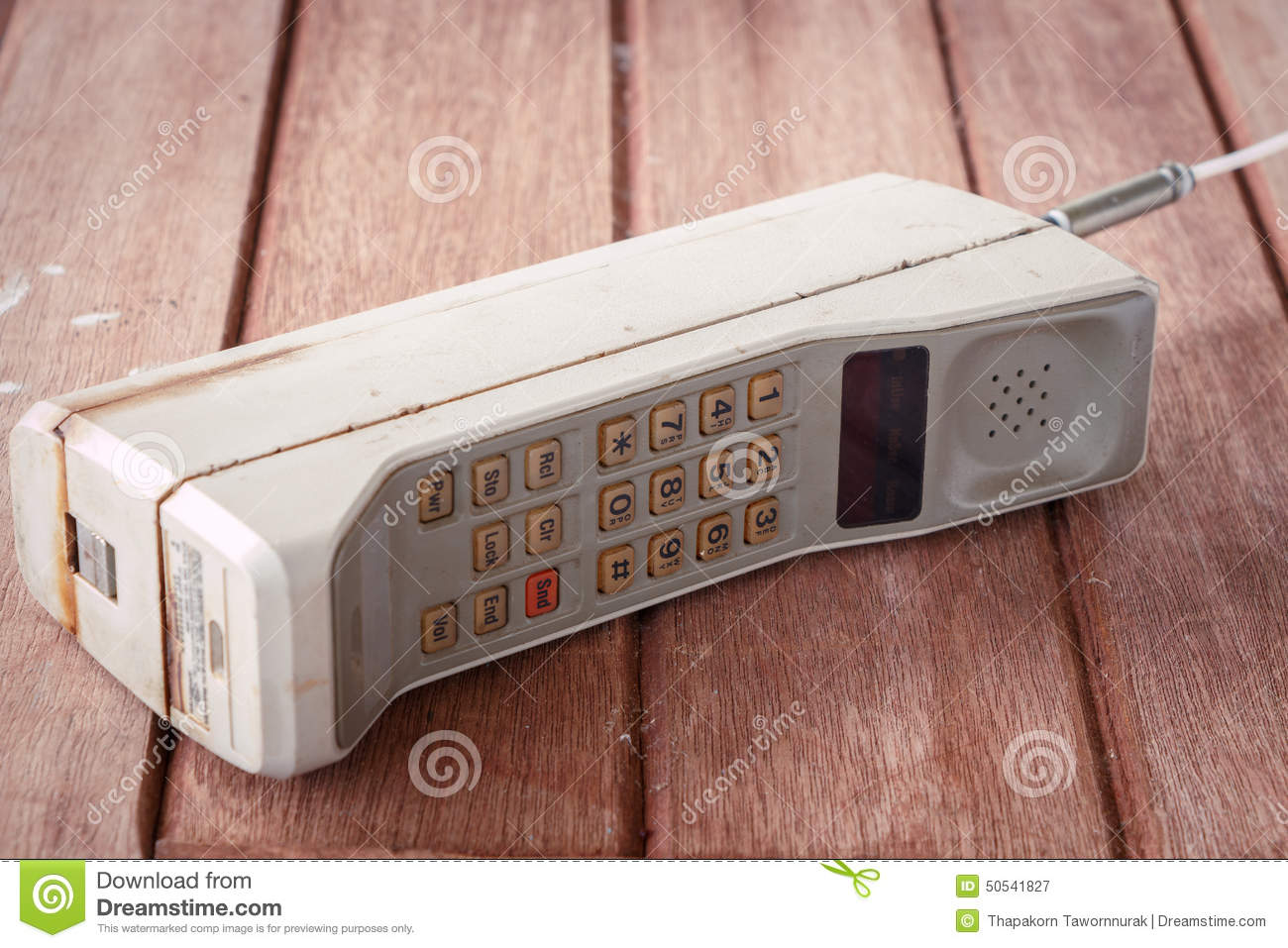 vintage mobile phone stock photo image 50541827 On vintage look mobel