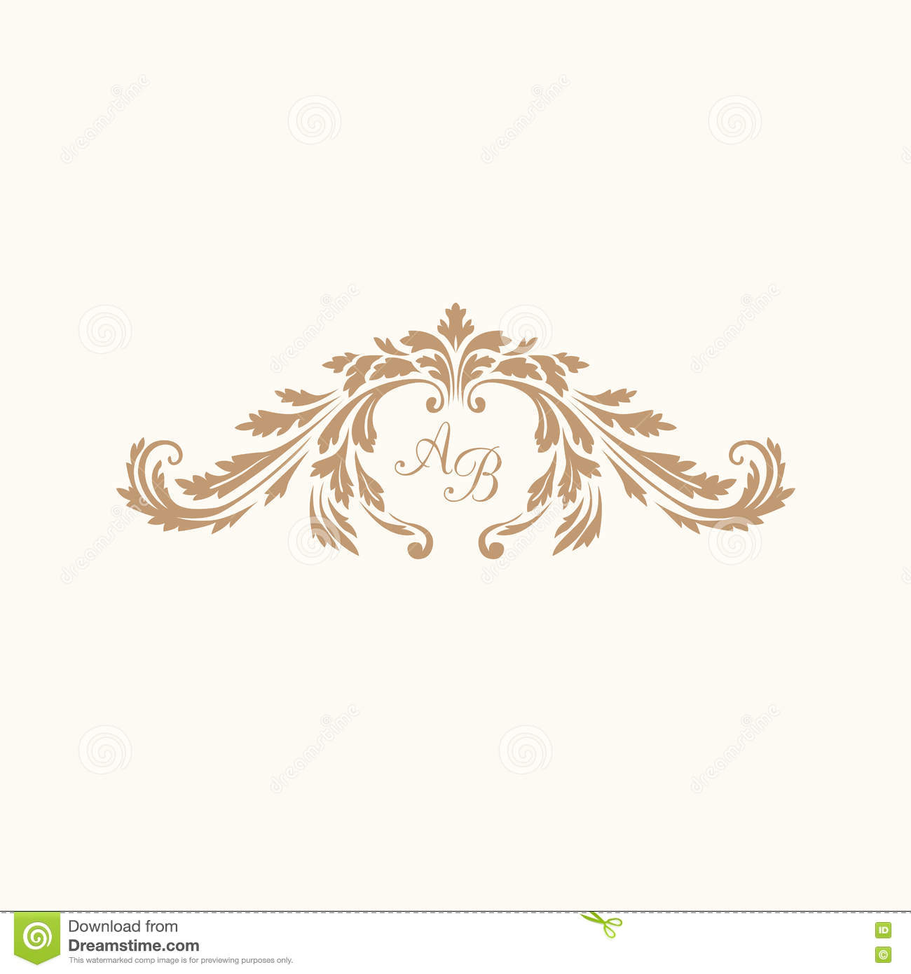 Vintage monogram template stock vector Illustration of heraldry
