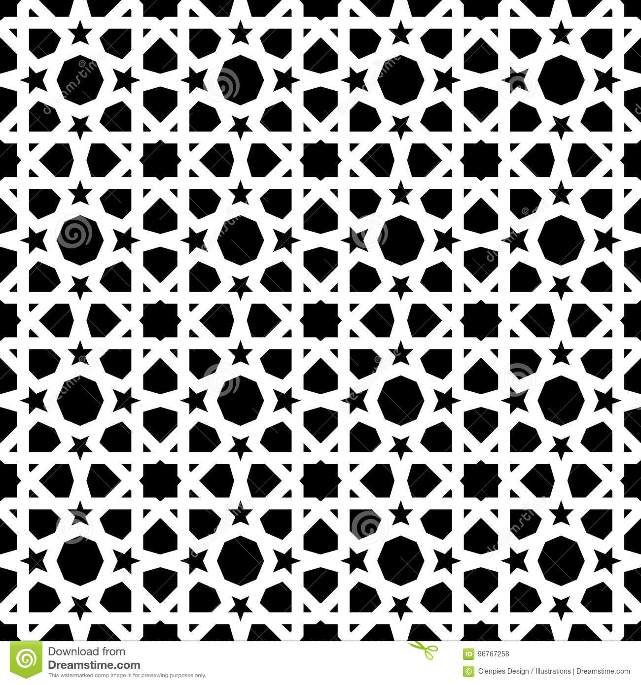 vintage mosaic tile background decoration art stock vectorvintage ceramic mosaic tile seamless pattern with abstract black and white geometric shape decoration entwined tiled pattern based on traditional oriental