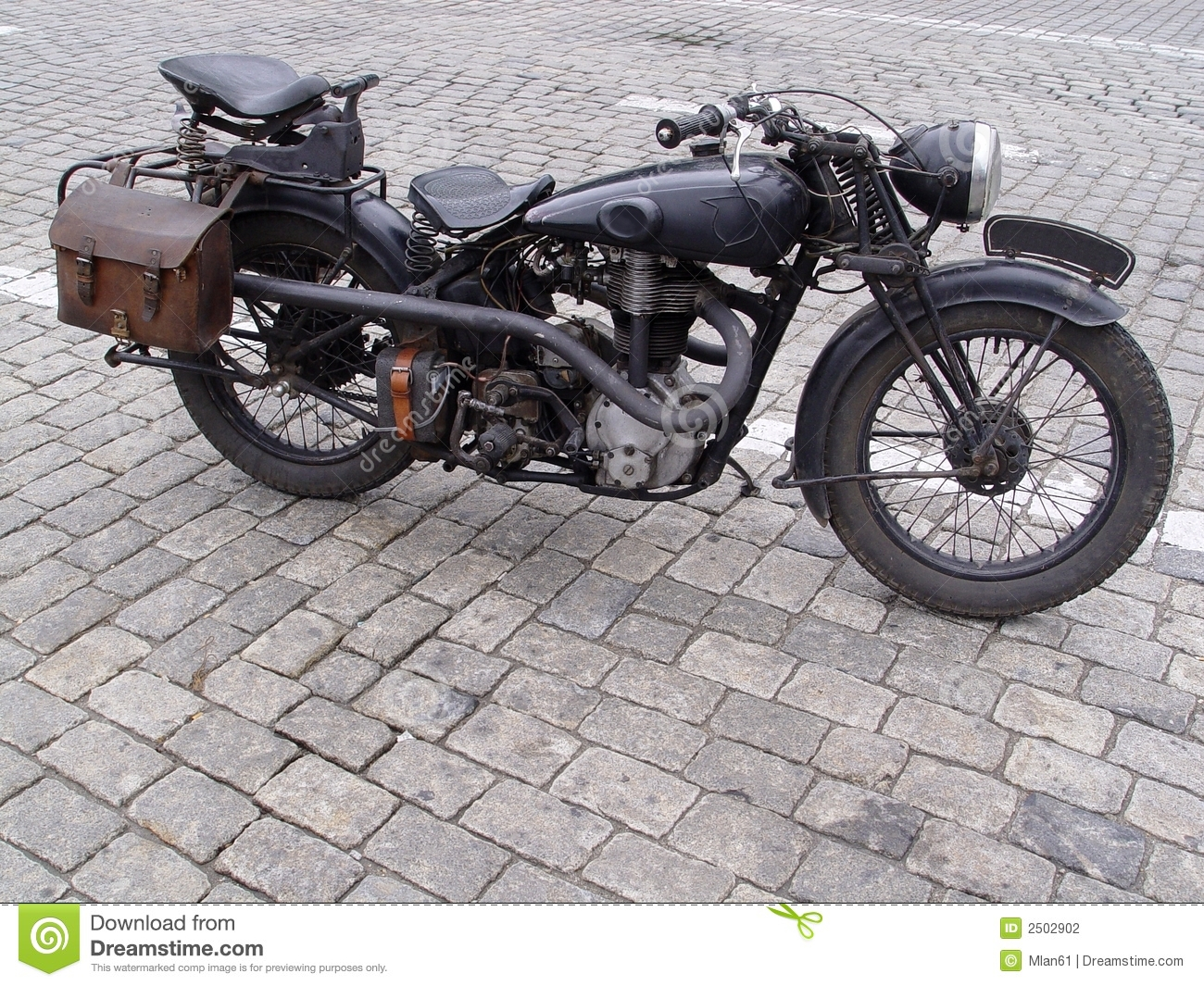 Vintage Motorcycle Stock Photography - Image: 2502902