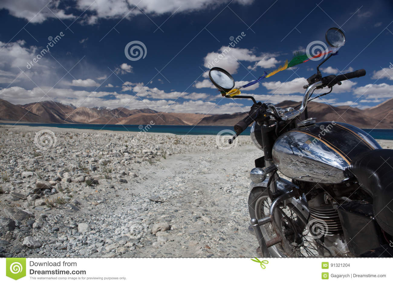 motorcycle background o  Vintage Motorcycle On Background Of Beautiful. Stock Photo - Image ...