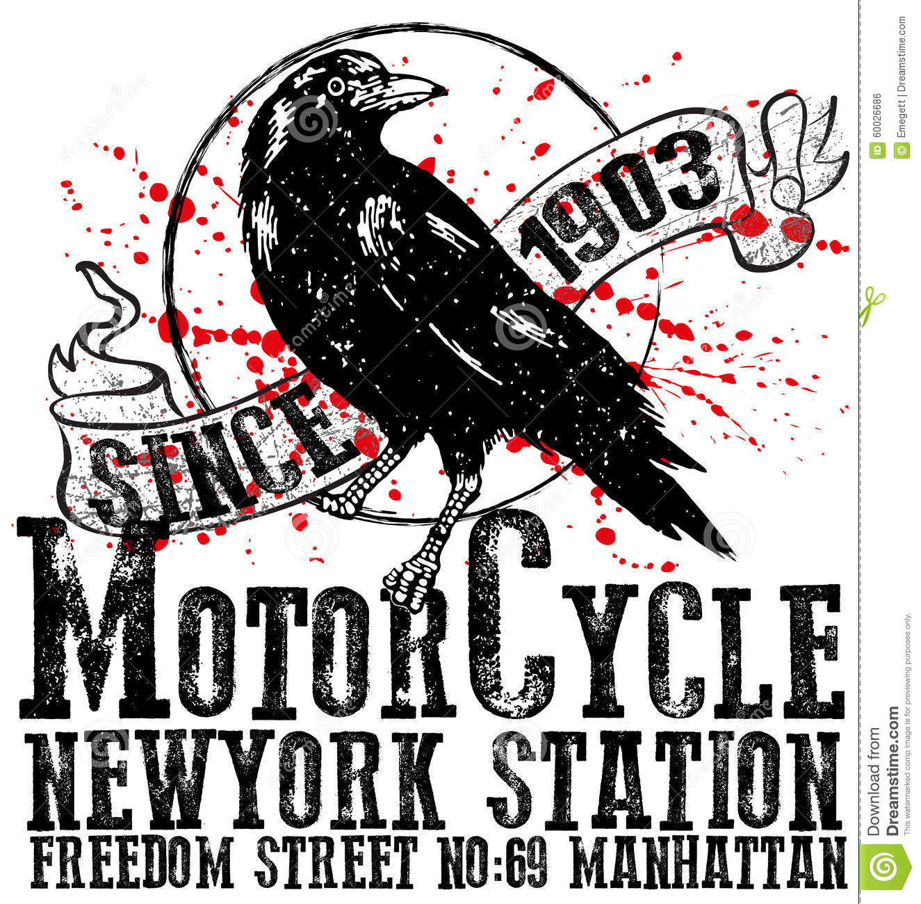 Vintage Motorcycle Club Logo Graphic Design For Man T