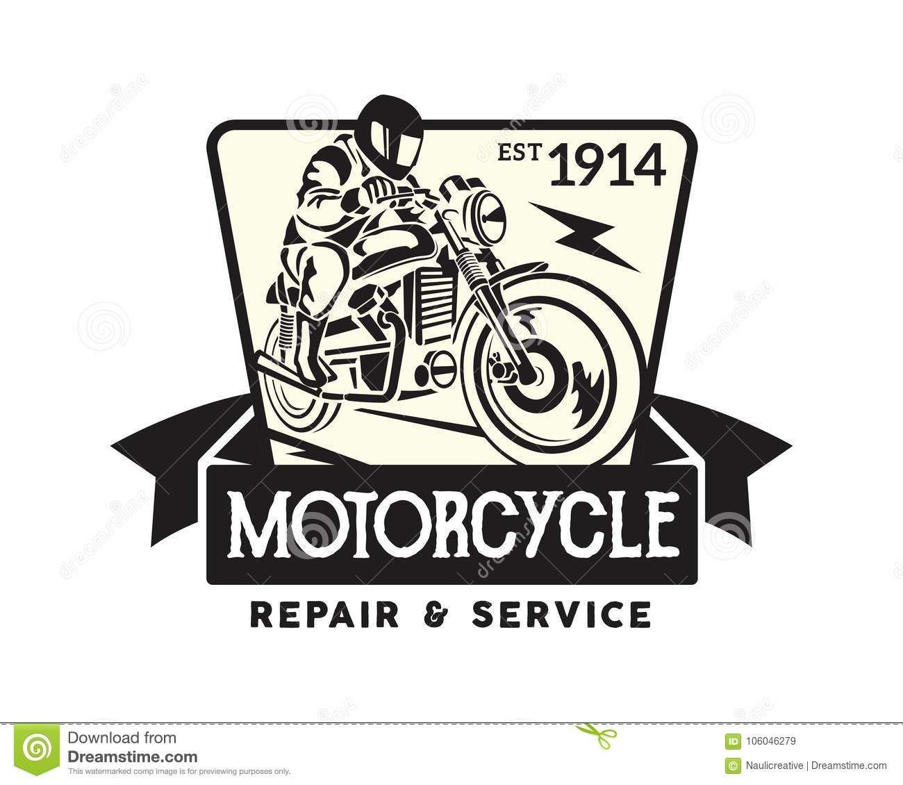 70171cc67 Vintage motorcycle logo badge illustration, suitable for t-shirt graphic,  patch, sign, and any other motorcycle related graphic.