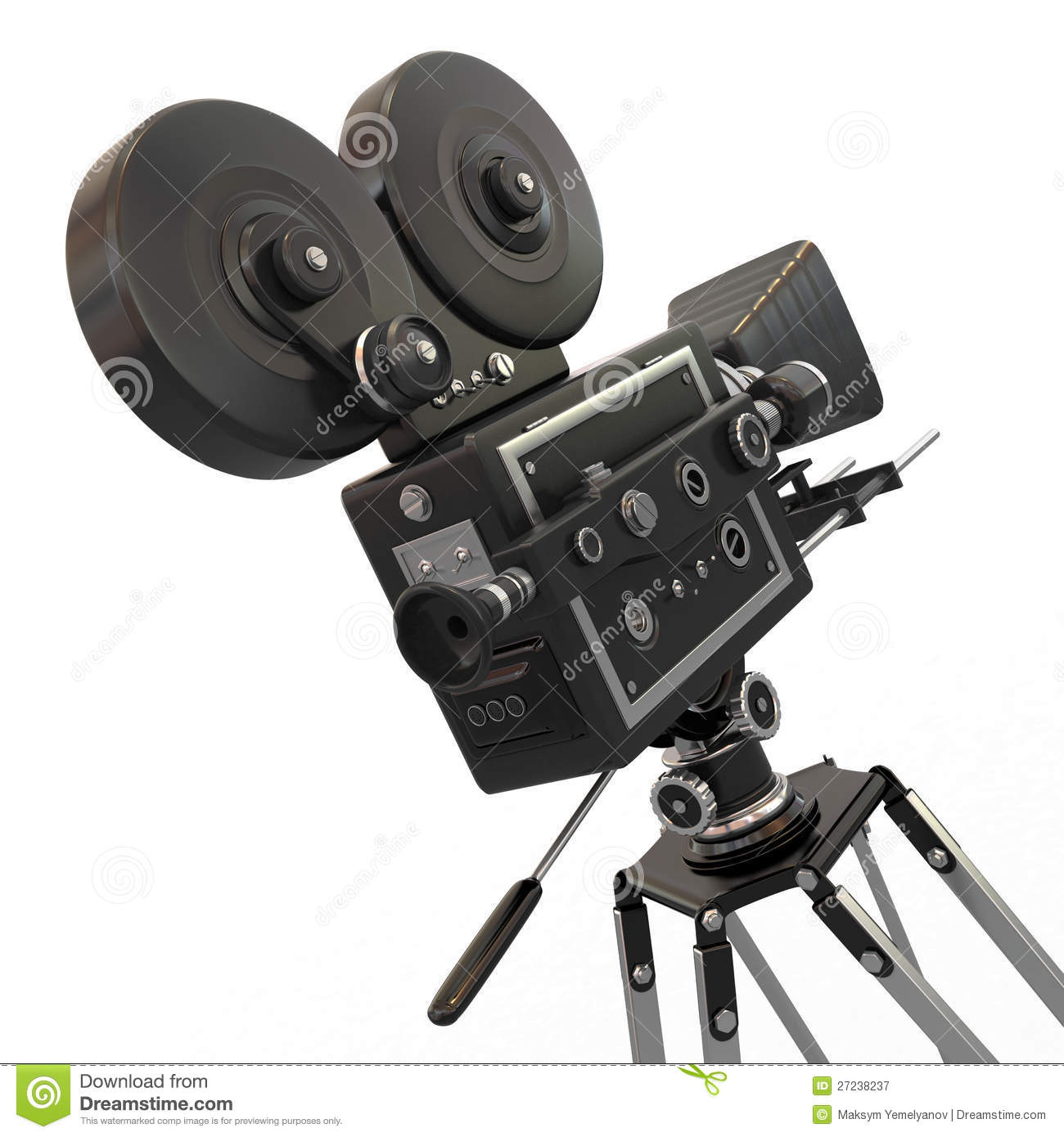 Vintage Movie Camera. 3d Royalty Free Stock Photo - Image: 26739335
