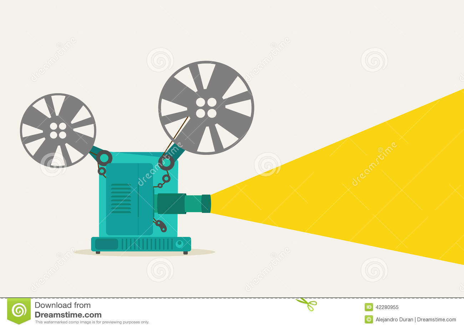 Vintage Movie Projector Stock Vector - Image: 42280955